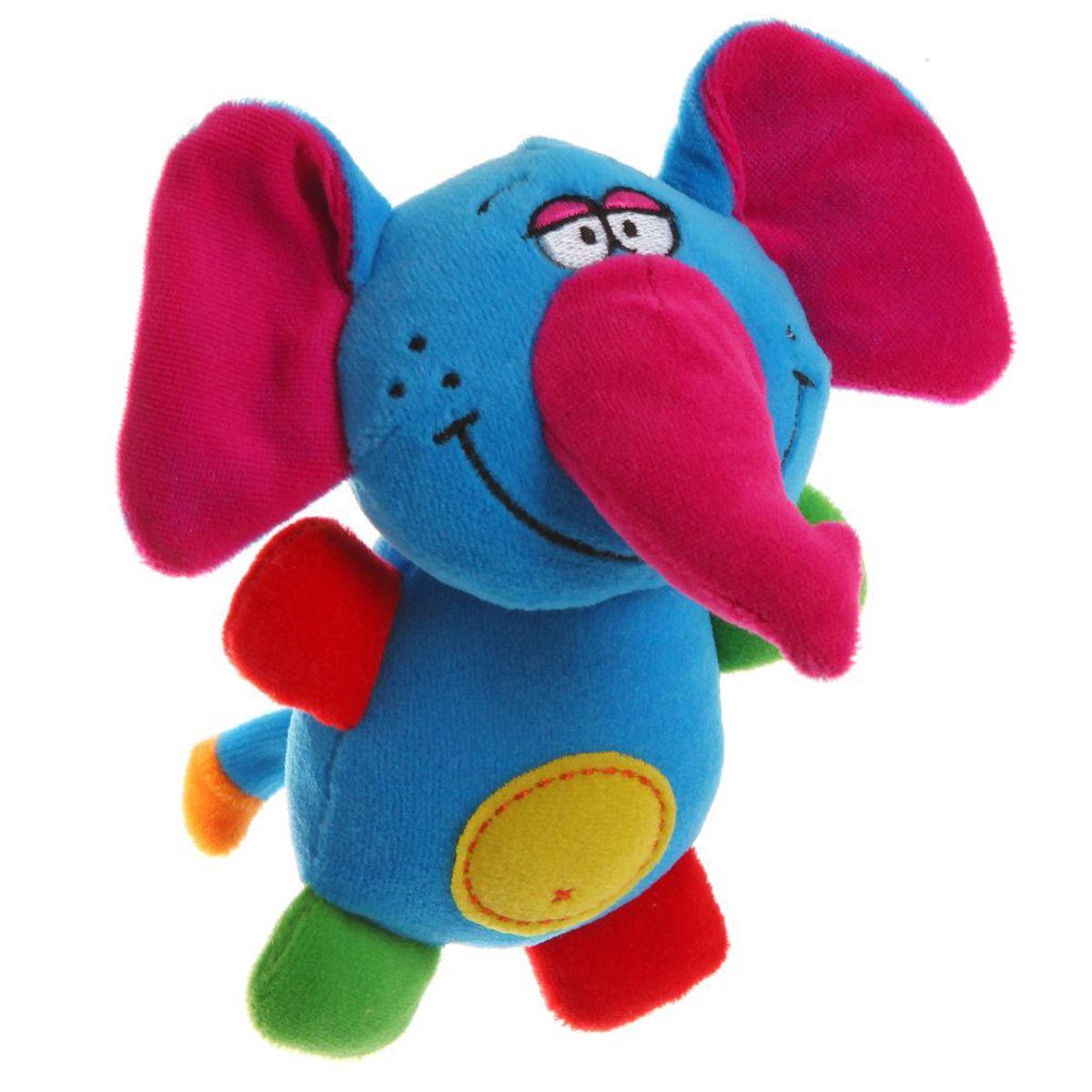 Bondibon Мягкая игрушка-погремушка СлонВВ1280Мягкие погремушки становятся самыми любимыми игрушками малышей в первые месяцы жизни. Именно погремушки передают крохам первый визуальный и тактильный опыт, а также учат находить взаимосвязь - если потрясти погремушку, то возникнет звук! Погремушка имеет форму слона и выполнена из безопасного и яркого материала. Без сомнения, эти игрушки понравятся вашему ребенку!