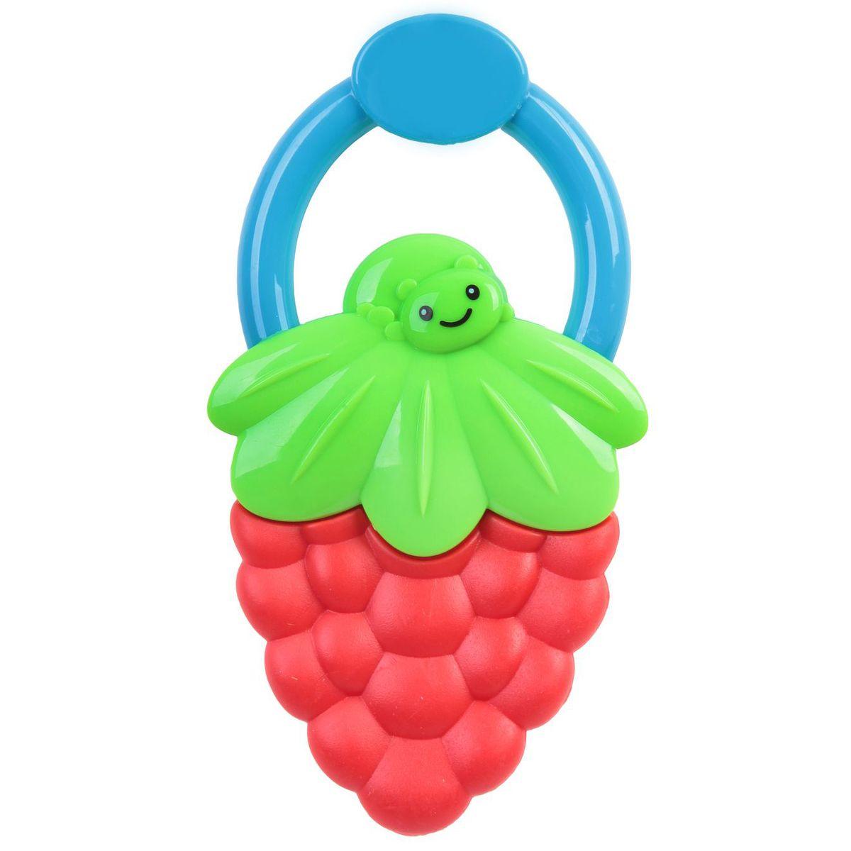 Bondibon Погремушка Ягодка цвет красный зеленый