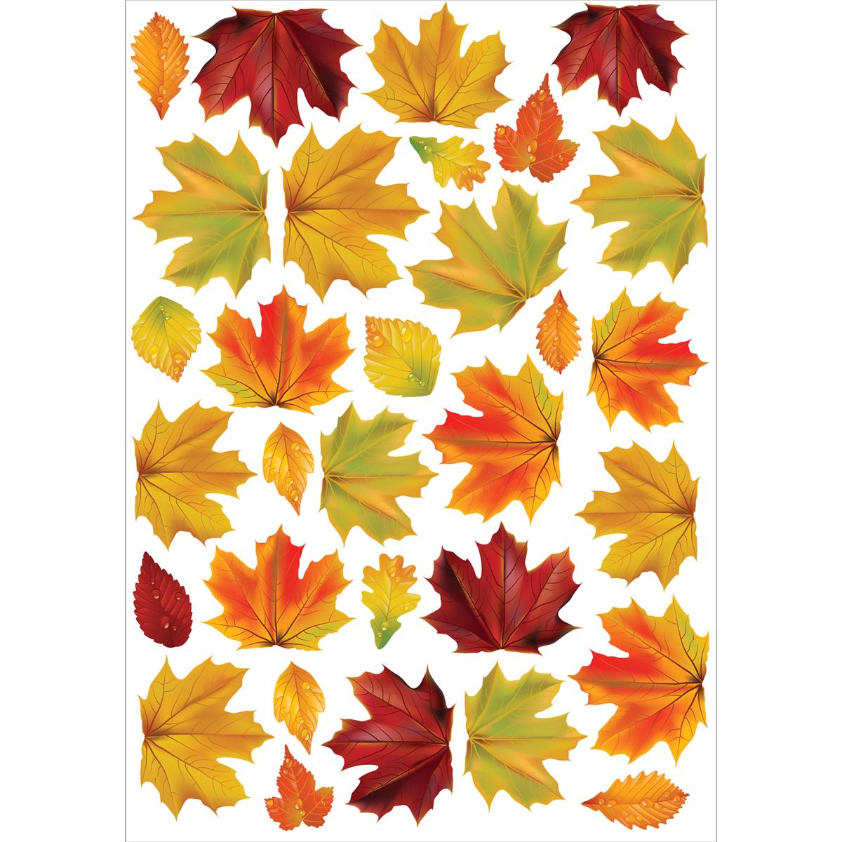 Decoretto Наклейка Осенние листья