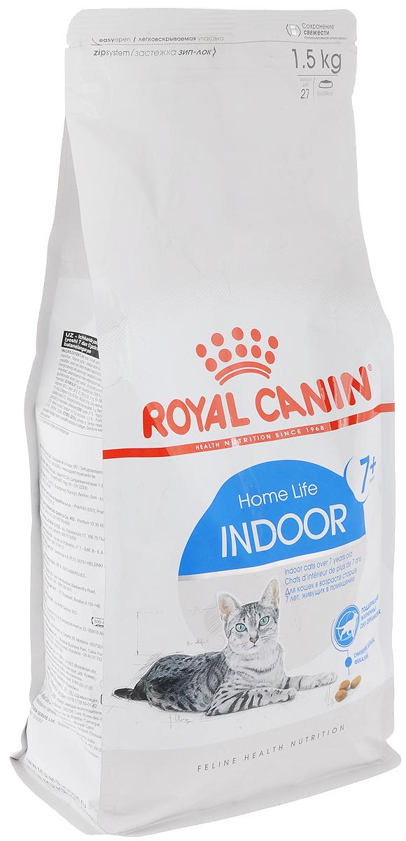 Корм сухой Royal Canin Indoor 7+, для кошек в возрасте от 7 до 12 лет, живущих в помещении, 1,5 кг44437Корм сухой Royal Canin Indoor +7 - полнорационное питание для пожилых кошек с 7 до 12 лет, постоянно проживающих в помещении. Для поддержания жизненных сил стареющей кошки. Корм Indoor 7+ помогает сохранять молодость кошки благодаря запатентованному комплексу витаминов и питательных веществ с антиоксидантными свойствами и полифенолам зеленого чая и винограда. Хондропротекторные вещества и незаменимые жирные кислоты EPA и DHA, содержащиеся в этом корме, поддерживают здоровье суставов кошки. Красота и блеск шерсти кошки: улучшает блеск шерсти и здоровье кожи благодаря присутствию в корме активных питательных веществ, в том числе витаминов А и В, незаменимых жирных кислот, микроэлементов в хелатной форме, масла огуречника аптечного (богатого гамма-линоленовой кислотой) и рыбьего жира (источника жирных кислот Омега 3). Обеспечение здоровья почек - адекватное содержание фосфора: адаптированный уровень фосфора (0,79%) ...