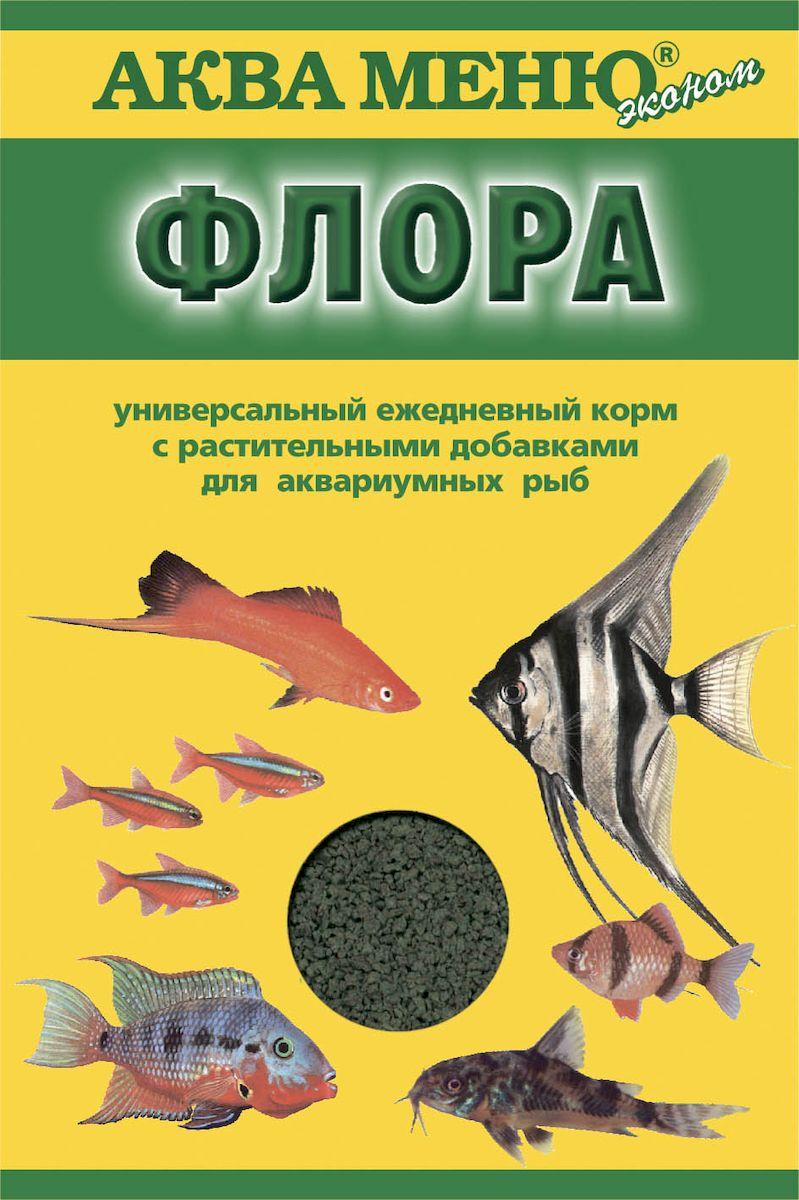 Корм для рыб Аква Меню Флора, с растительными добавками, 30 г00000000788ежедневный корм с растительными добавками для рыб