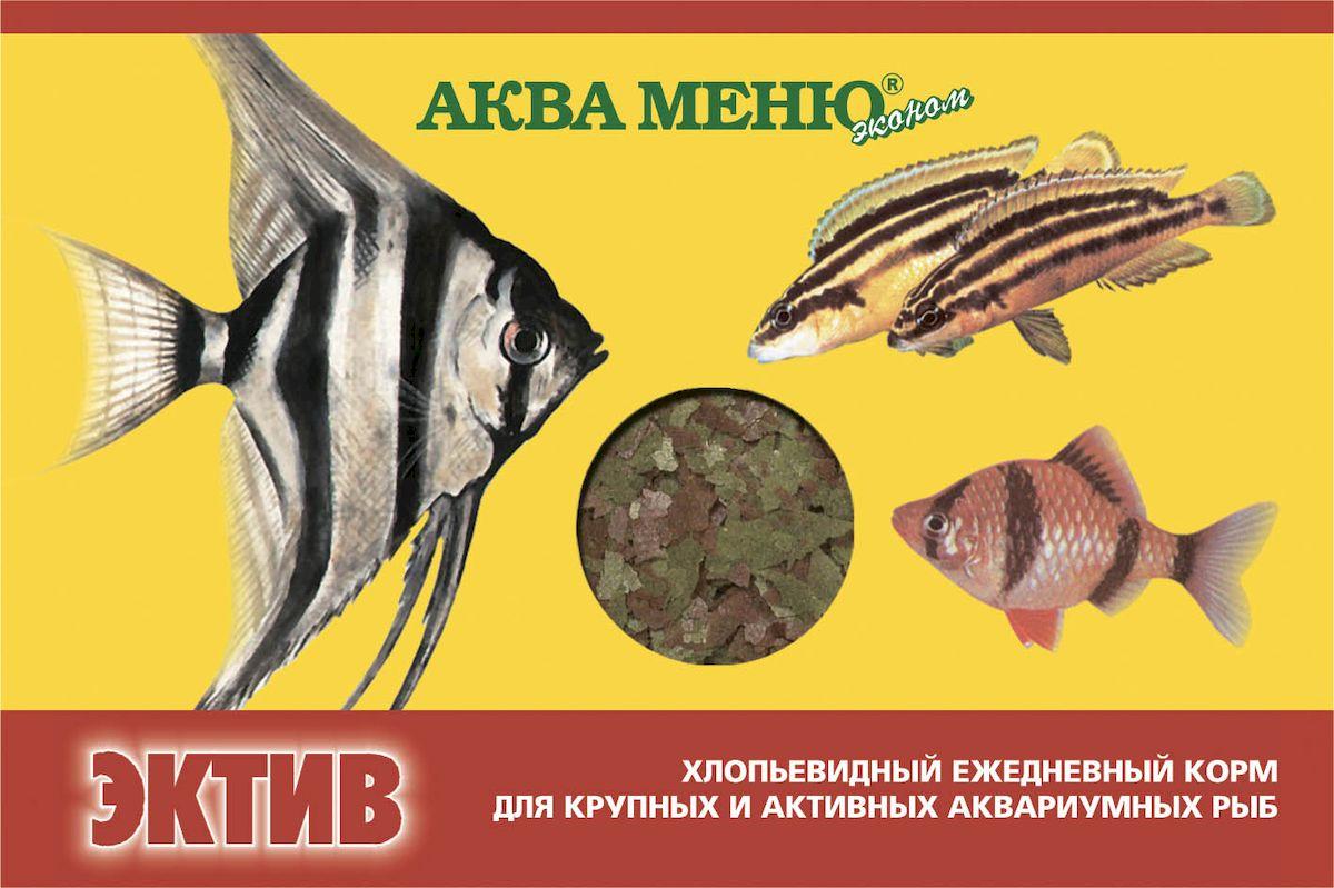 Корм для рыб Аква Меню Эктив, для крупных и активных рыб, 11 г00000000790хлопьевидный ежедневный корм для крупных и активных рыб