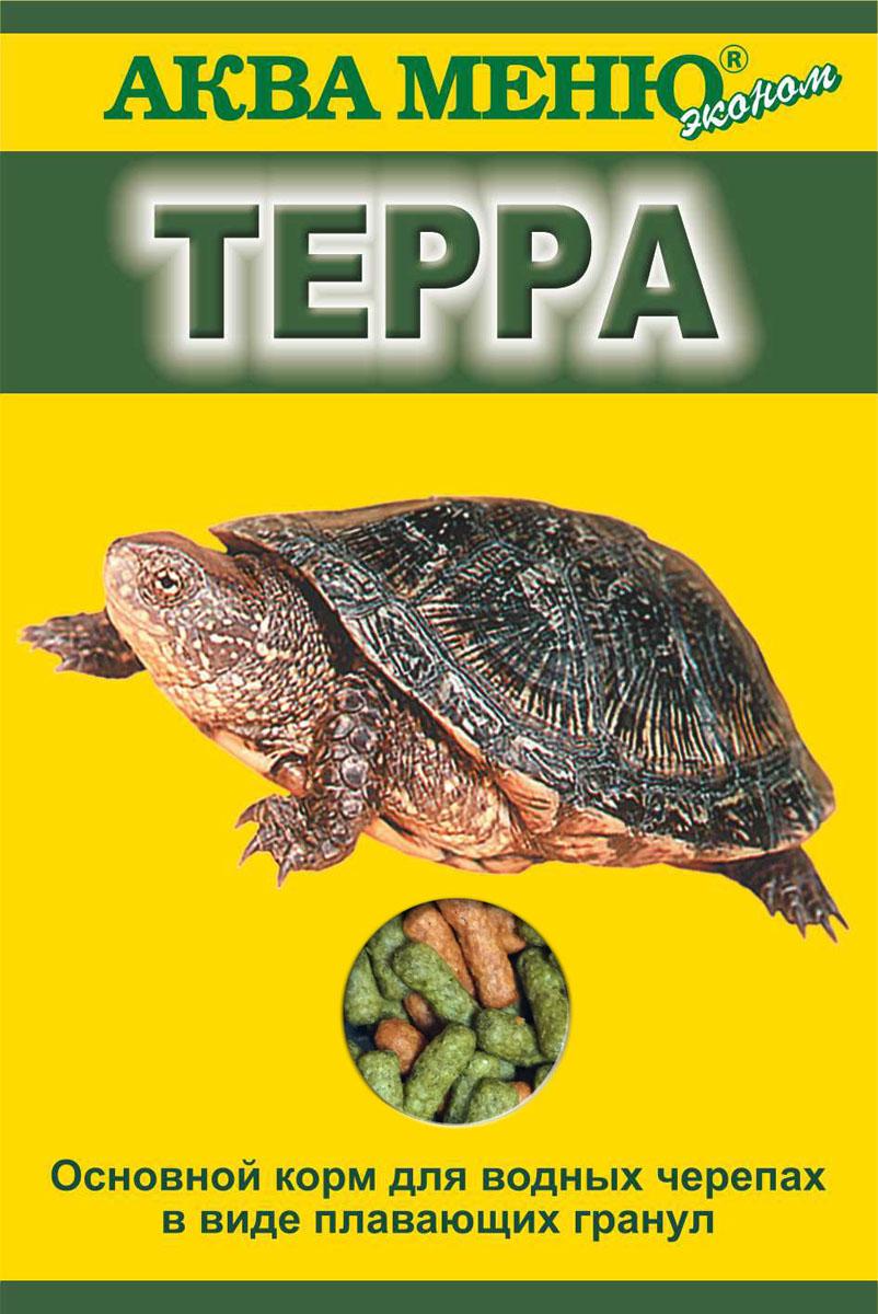 Корм для черепах Аква Меню Терра, для водных черепах в виде плавающих гранул, 15 г00000000770основной корм для водных черепах в виде плавающих гранул