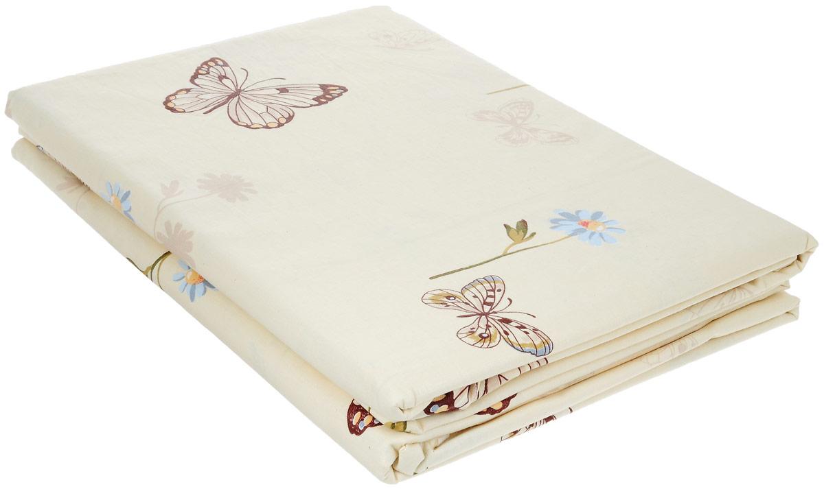 Комплект белья Олеся Бабочки, 2-спальный, наволочки 70 х 70, цвет: молочный2050115956/молочный/бабочкиКомплект белья Олеся Бабочки, выполненный из бязи (100% хлопка), состоит из двух простыней и двух наволочек. Бязь - хлопчатобумажная ткань полотняного переплетения без искусственных добавок. Большое количество нитей делает эту ткань более плотной, более долговечной. Высокая плотность ткани позволяет сохранить форму изделия, его первоначальные размеры и первозданный рисунок. Приобретая комплект постельного белья Олеся Бабочки, вы можете быть уверенны в том, что покупка доставит вам и вашим близким удовольствие и подарит максимальный комфорт.