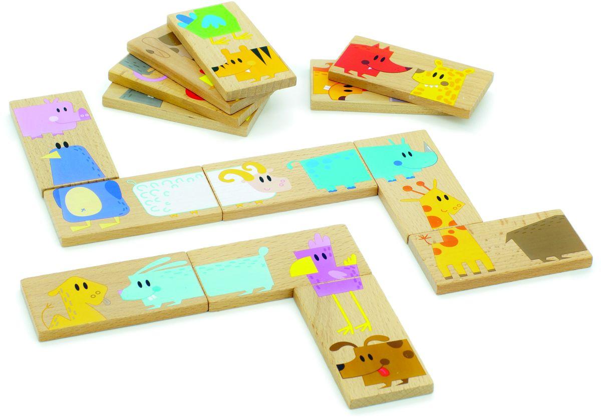 Мир деревянных игрушек Обучающая игра Домино ЗоопаркД392Домино зоопарк это деревянные пластинки с изображением животных, а именно половинок животных. При правильном расставлении пластинок можно получить полную картинку животного. Домино находится в удобном матерчатом мешочке. Игрушка развивает у детей логические способности, умение читать и считать, чувство различения в цветах и формах.