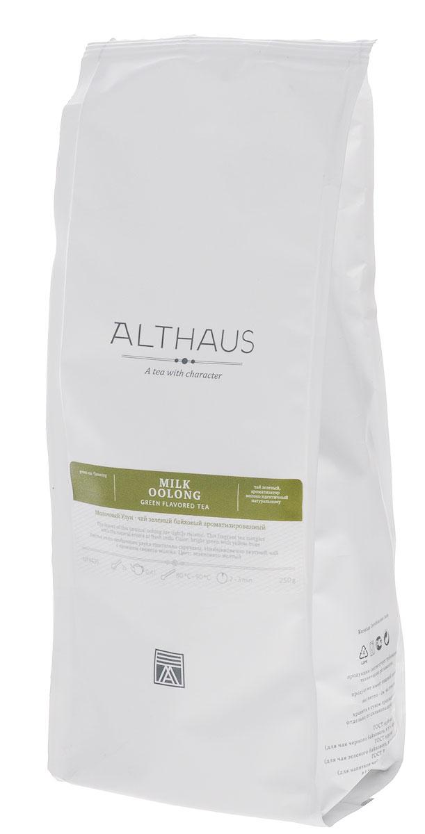 Althaus Milk Oolong зеленый листовой чай, 250 гTALTHL-L00108Молочный Улун — китайский полуферментированный чай с восхитительным сливочным ароматом. Улуны совмещают в себе свежесть зеленого чая с насыщенной пряной сладостью черного, добавляя к этому собственные неповторимые цветочно-медовые оттенки. Изначально этот чай изготавливали из необычных чайных листочков, которые от природы обладали легким молочным запахом. Удивительный напиток приобрел широкую известность, и чайные мастера усовершенствовали технологию обработки, добавив в чай натуральный экстракт молока. Букет Молочного Улуна совмещает в себе карамельно-молочную сладость и оттенок зеленой свежести. Тонкая сливочная нотка вызывает сложное, многогранное послевкусие с легкой кислинкой и терпкостью. В золотистом настое раскрывается душистая сладость цветочного луга, оставляя приятный аромат даже в пустой чашке. Оптимальная температура заваривания: 85°С. Температура воды: 80-90 °С Время заваривания: 2-3 мин Цвет в чашке: ярко...