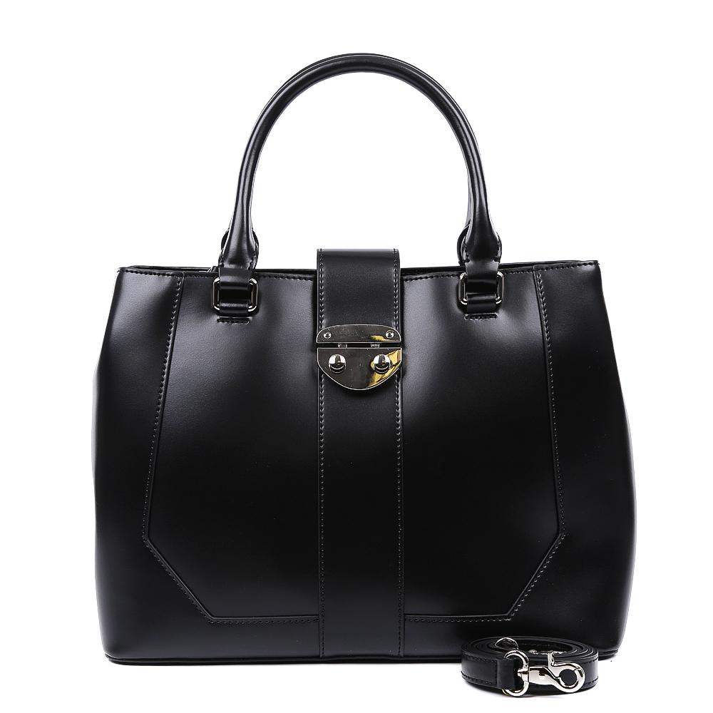 Сумка женская Leo Ventoni, цвет: черный. 2300443323004433-neroЭлегантная сумка от итальянского бренда Leo Ventoni выполнена из натуральной плотной кожи, которая держит форму и имеет невероятно мягкую и приятную на ощупь фактуру. Классический черный цвет и яркая фурниитура под цвет никель подчеркнут ваш неповторимый и женственный стиль. Сумка имеет одно вместительное отделение, которое разделено на два отсека карманом на молнии. Внутри сумки вы с легкостью сможете расположить свой сотовый телефон и другие женские мелочи с помощью удобных и вместительных карманов. Модель вмещает формат A4, в комплекте имеется изысканный наплечный ремень.