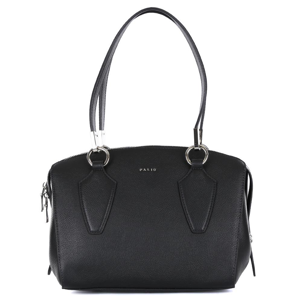 Сумка женская Palio, цвет: черный. 14566A-01814566A-018 blackКомпактная сумка от итальянского бренда Palio выполнена из натуральной плотной кожи, которая держит форму и имеет мягкую фактуру. Классический черный цвет, фурнитура выполненная под серебро и длинные удобные ручки позволили дизайнерам создать стильную и практичную модель, которая дополнит любой современный образ. Сумку можно носить на сгибе руки или на плече. Аксессуар имеет одно вместительное отделение, которое разделено карманом на молнии. Внутри сумки вы с легкостью сможете расположить свой сотовый телефон и другие женские мелочи с помощью удобных карманов. Модель не вмещает формат A4.