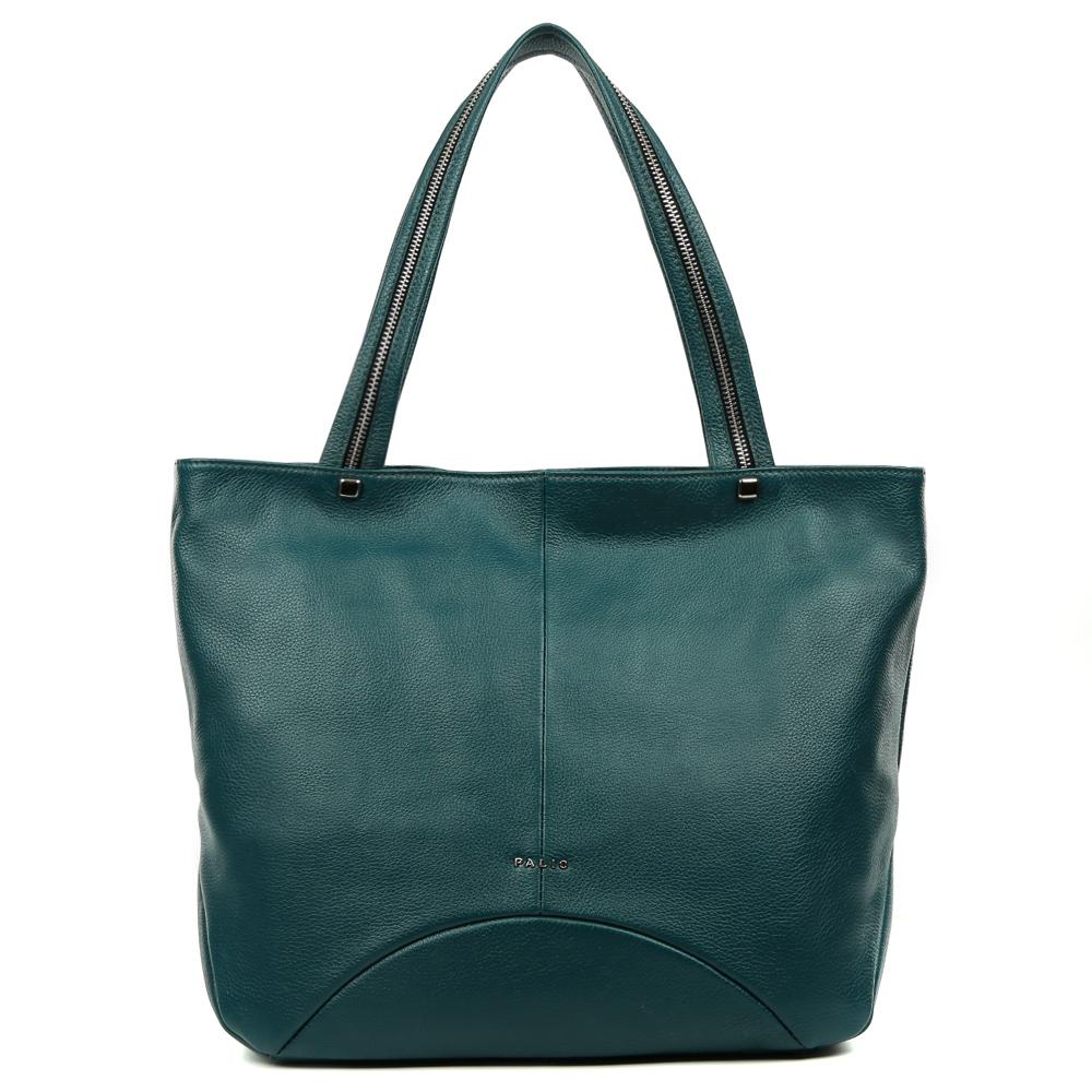 Сумка женская Palio, цвет: бирюзовый. 14626A1-68714626A1-687 turguoiseКлассическая сумка от итальянского бренда Palio выполнена из натуральной кожи, которая имеет мягкую и нежную фактуру. Строгий дизайн модели, ее яркий темно-зеленый цвет, тонкие геометрические линии, и фурнитура, выполненная в серебре подойдут к любому современному образу. Классический аксессуар дополнит как деловой, так и повседневный стиль, а модные ручки с молниями сделают его более изысканным. Сумка имеет два вместительных отделения, которые вмещают папки формата A4. Внутри аксессуара вы с легкостью расположите свой сотовый телефон и другие женские мелочи за счет удобных карманов. На тыльной стороне дизайнеры разместили вместительный карман, который закрывается на стильную молнию с кожаным поводком.