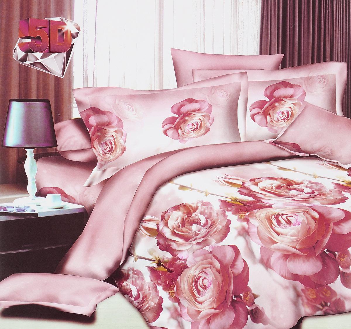 Комплект белья ЭГО Южная Роза, 2-спальный, наволочки 70x70Э-2017-02Комплект белья ЭГО Южная Роза выполнен из полисатина (50% хлопка, 50% полиэстера). Комплект состоит из пододеяльника, простыни и двух наволочек. Постельное белье имеет изысканный внешний вид и яркую цветовую гамму. Гладкая структура делает ткань приятной на ощупь, мягкой и нежной, при этом она прочная и хорошо сохраняет форму. Ткань легко гладится, не линяет и не садится. Приобретая комплект постельного белья ЭГО Южная Роза, вы можете быть уверенны в том, что покупка доставит вам и вашим близким удовольствие и подарит максимальный комфорт.