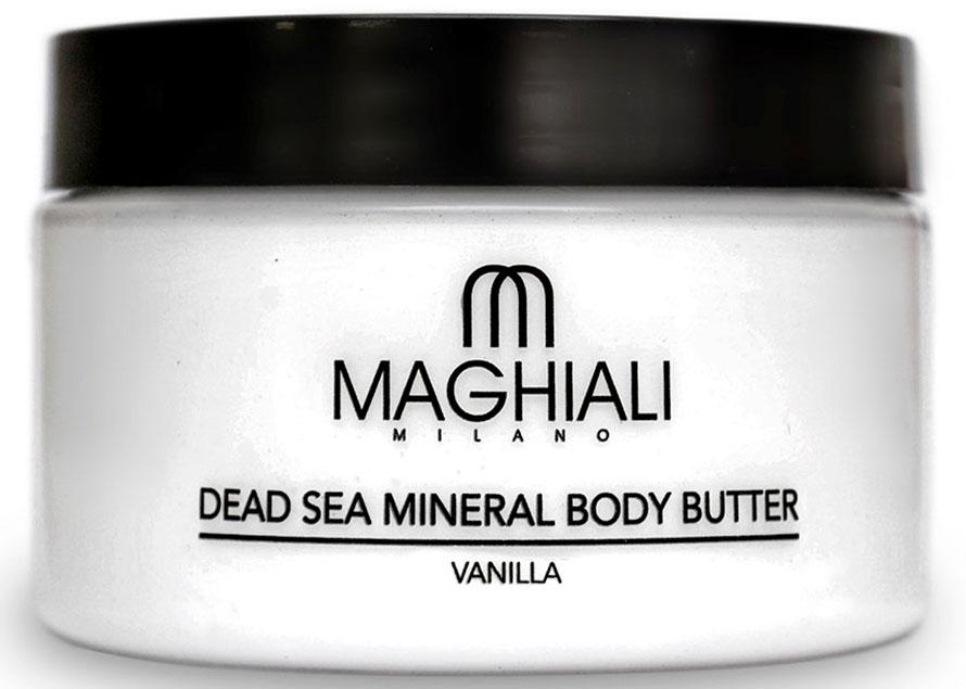 Maghiali Сливки для тела Dead sea Mineral, ваниль, 250 млУТ-00000159Крем-масло Maghiali для тела Ваниль с удивительно шелковистой текстурой на основе масла ши, богато жирными кислотами и витамином E. Эффективно смягчает кожу тела и улучшает уровень ее увлажненности, способствует замедлению процесса старения кожи и появления морщин. Масло для тела Maghiali прекрасно подходит для стран с холодным климатом. Обогащено маслом семян жожоба, соком алоэ и экстрактом ромашки для смягчения кожи. Формула масла для тела Maghiali содержит также 27 витаминов и минералов твого моря, которые помогают поддерживать здоровое состояние кожи и придают ей ощущение свежести. Крем для тела масло Maghiali с экстрактом ванили выравнивает цвет кожи, снимает раздражение, воспаления и шелушения, успокаивает, повышает эластичность кожи. Идеально подходит для ухода за сухой, чувствительной, раздраженной и зрелой кожи. Применение: Нанести масло для тела Maghiali на кожу и помассировать до полного впитывания. Рекомендуется для ежедневного использования.