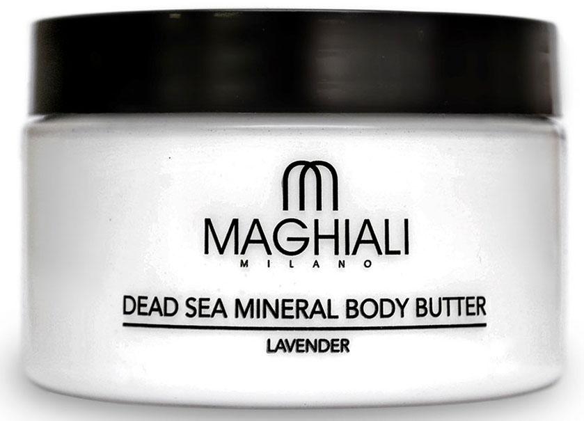 Maghiali Сливки для тела Dead sea Mineral, лаванда, 250 млУТ-00000186Крем-масло Maghiali для тела Лаванда с удивительно шелковистой текстурой на основе масла ши, богато жирными кислотами и витамином E. Эффективно смягчает кожу тела и улучшает уровень ее увлажненности, устраняет шелушение и раздражение, способствует замедлению процесса старения кожи и появления морщин. Масло для тела Maghiali прекрасно подходит для стран с холодным климатом. Обогащено маслом семян жожоба, соком алоэ и экстрактом ромашки для смягчения кожи. Формула масла для тела Maghiali содержит также 27 витаминов и минералов Мертвого моря, которые помогают поддерживать здоровое состояние кожи и придают ей ощущение свежести. Крем-масло Maghiali с экстрактом лаванды успокаивает, помогает избавиться от стресса, расслабляет.
