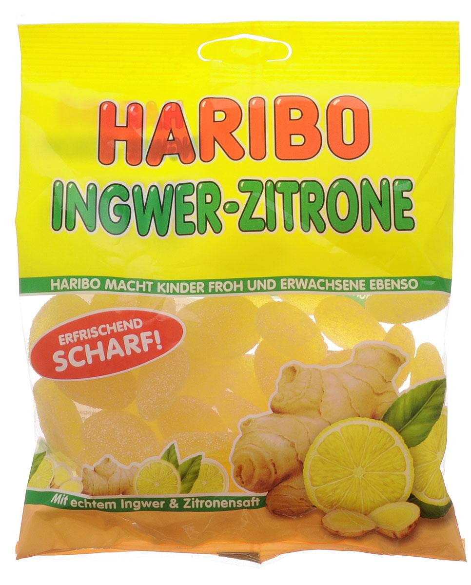 Haribo Имбирный лимон мармелад жевательный, 175 г34276Пряный имбирь с утонченной кислинкой лимона под сахарной обсыпкой - особенный жевательный мармелад от Haribo. Он создан специально для любителей экзотических вкусов!