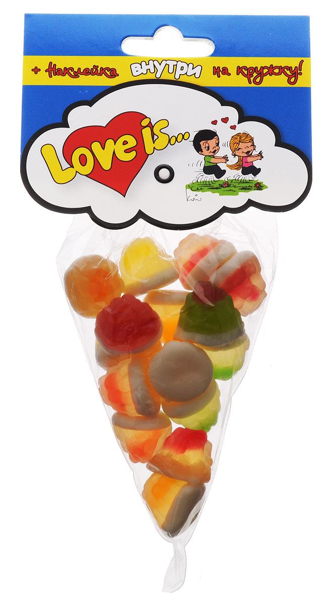 Love is Ягодный фреш мармелад жевательный ассорти, 75 г4627082071900Жевательные ягоды от Love is - это взрыв вкусов! Угощайте любимых нежным жевательным мармеладом. Внутри каждой упаковки наклейка на кружку и новая история о любимых героях.