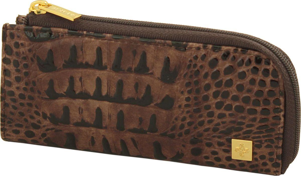 Ключница женская Dimanche Loricata Brun, цвет: коричневый. 240/8240/8_коричневыйКлючница из натуральной кожи, закрывается на молнию, внутри кольцо для ключей, с задней стороны кармашек на молнии.