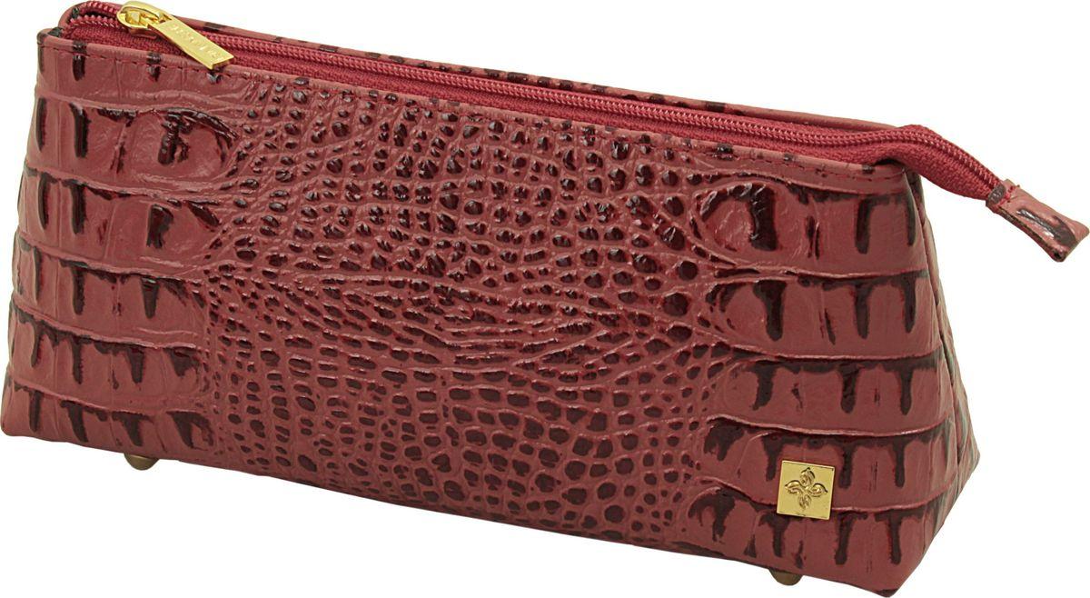 Косметичка женская Dimanche Loriсata Rouge, цвет: красный. 549/8549/8_красныйВ косметичке одно большое отделение, закрывающееся на молнию, на ножках.