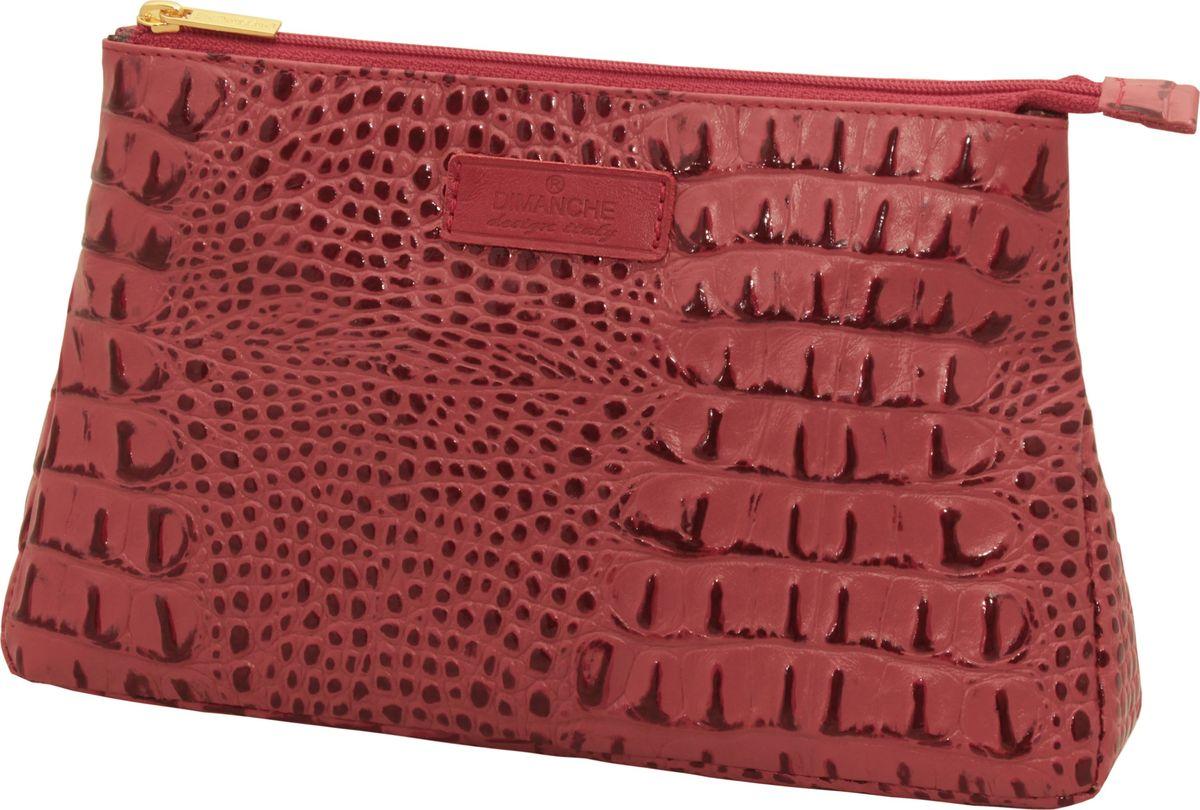 Кошелек женский Dimanche Loricata Rouge, цвет: красный. 099099_красныйКосметичка из натуральной высококачественной кожи. Внутри одно большое отделение, на подкладке. Закрывается на молнию. Вместительная.