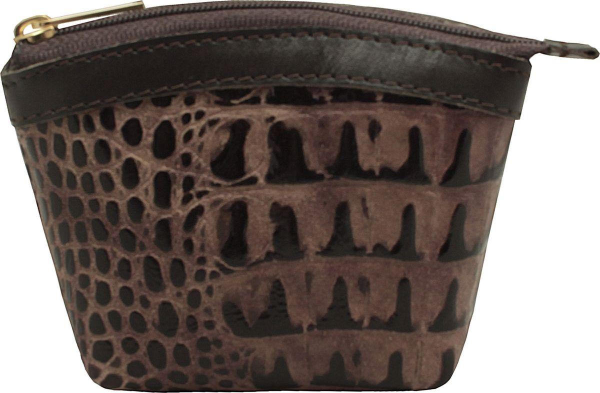 Кошелек-монетница женский Dimanche Loricata Brun, цвет: коричневый. 258/46258/46_коричневыйУдобный многофункциональный кошелечек-монетница. Закрывается на молнию, внутри на подкладке.