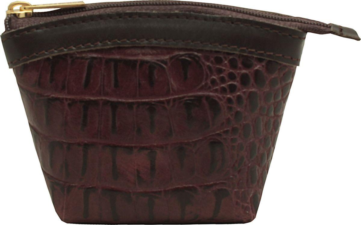 Кошелек-монетница женский Dimanche Sangria, цвет: бордовый. 258/14258/14_бордовыйУдобный многофункциональный кошелечек-монетница. Закрывается на молнию, внутри на подкладке.
