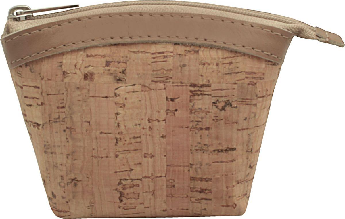 Кошелек-монетница женский Dimanche, цвет: бежевый. 258/55258/55_бежевыйУдобный многофункциональный кошелечек-монетница. Закрывается на молнию, внутри на подкладке.