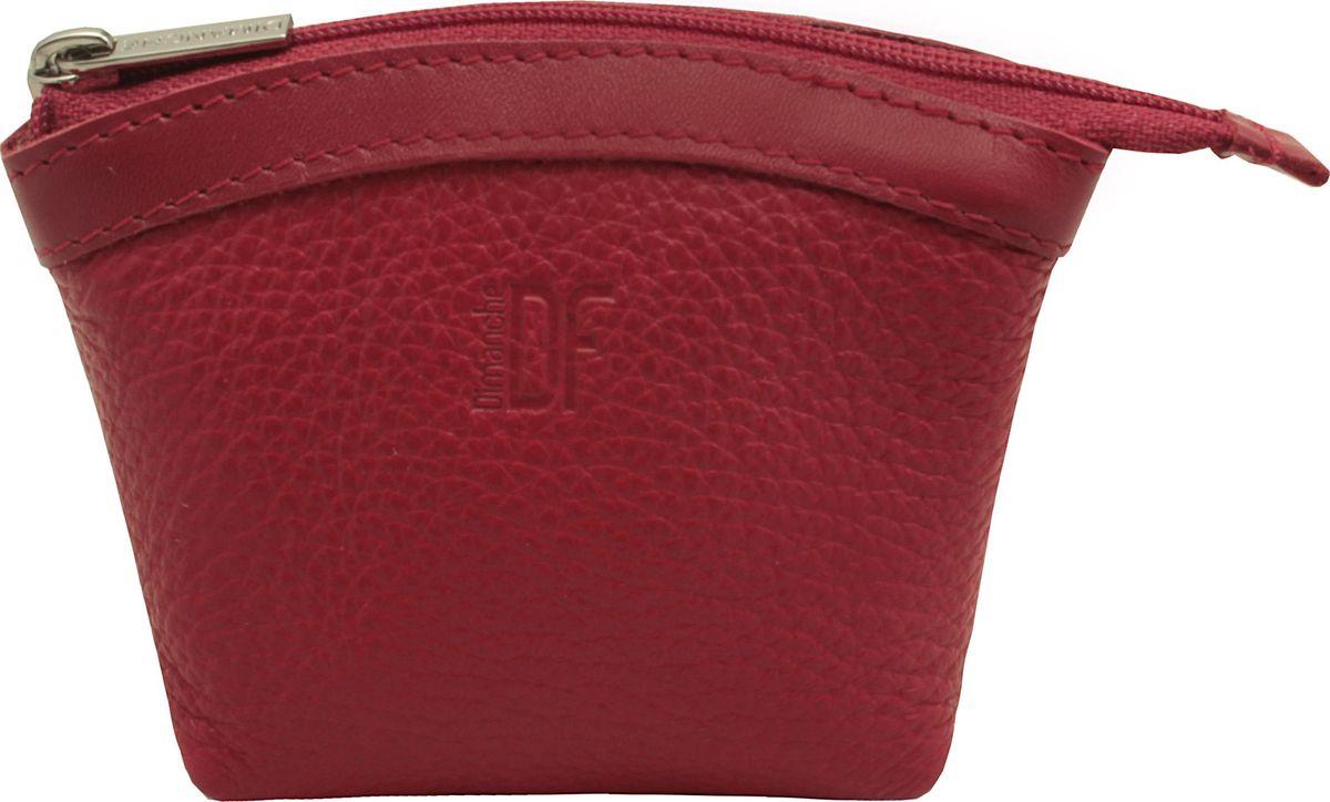 Кошелек-монетница женский Dimanche, цвет: красный. 258/33258/33_красныйУдобный многофункциональный кошелечек-монетница. Закрывается на молнию, внутри на подкладке.
