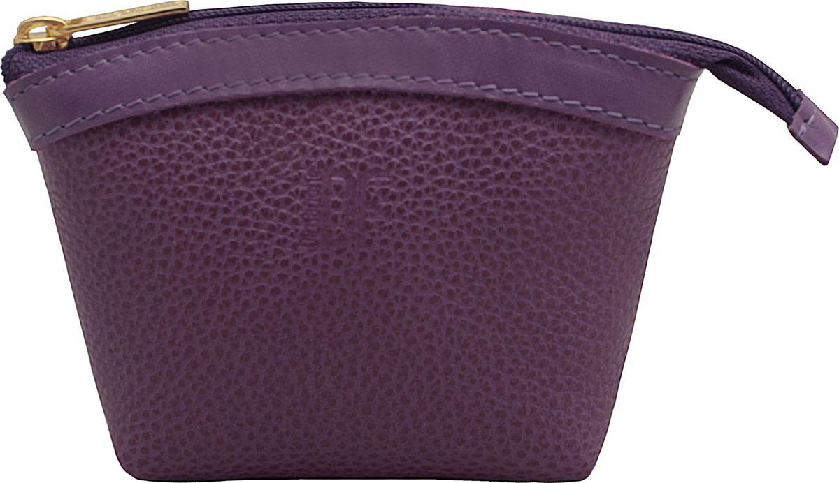 Кошелек-монетница женский Dimanche, цвет: пурпурный. 258/34258/34_пурпурныйУдобный многофункциональный кошелечек-монетница. Закрывается на молнию, внутри на подкладке.