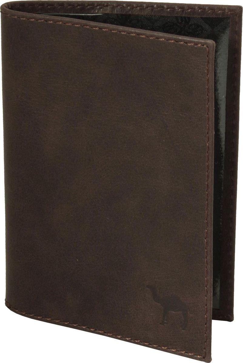 Обложка для паспорта мужская Dimanche Camel, цвет: коричневый. 630/К630/К_коричневыйОбложка для паспорта из натуральной кожи. На внутреннем развороте два кармана из прозрачного пластика.
