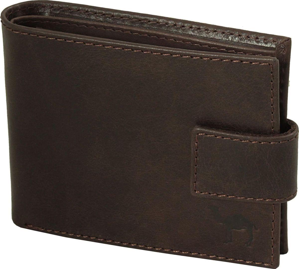 Портмоне мужское Dimanche Camel, цвет: коричневый. 634/К634/К_коричневыйУдобное функциональное портмоне из натуральной кожи. Закрывается хлястиком на кнопку. Внутри 2 отделения для купюр, дополнительный карман на молнии, обьемный карман для мелочи, который закрывается клапаном с потайной кнопкой, 7 карманов для кредитных карт.