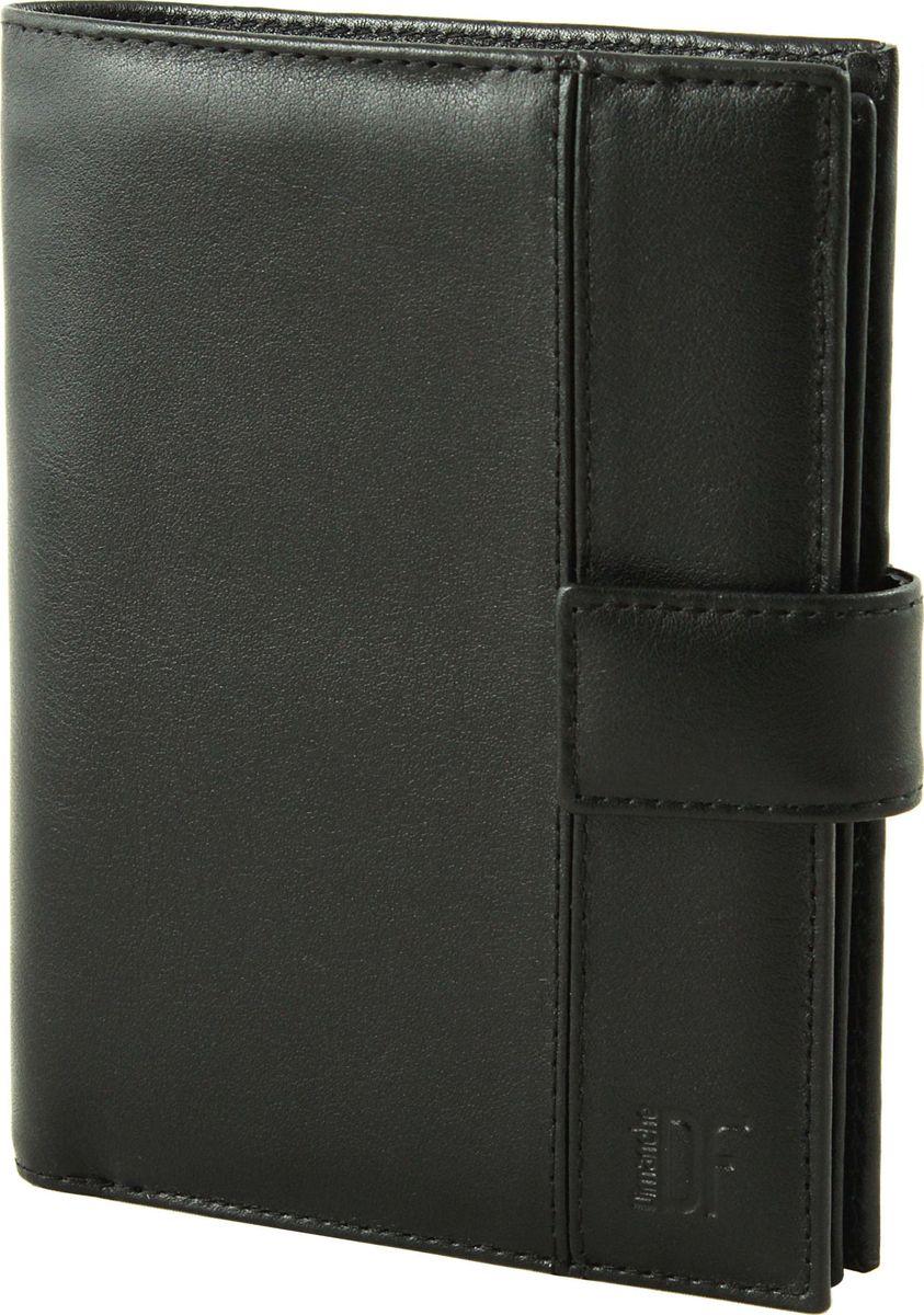 Портмоне мужское Dimanche Classic, цвет: черный. 001001_черныйУдобное многофукциональное портмоне из натуральной кожи. Выполняет фукции кошелька, обложки для паспорта и для автодокументов. Внутри 2 объемных отделения для купюр и карман на молнии. Имеется отделение для паспорта, блок для автодокументов, 11 карманов для визиток/кредиток, окошко для пропуска, 2 потайных кармана, прорезь для sim-карты. На задней стороне имеется объемный карман для мелочи на молнии. Закрывается хлястиком на кнопку.
