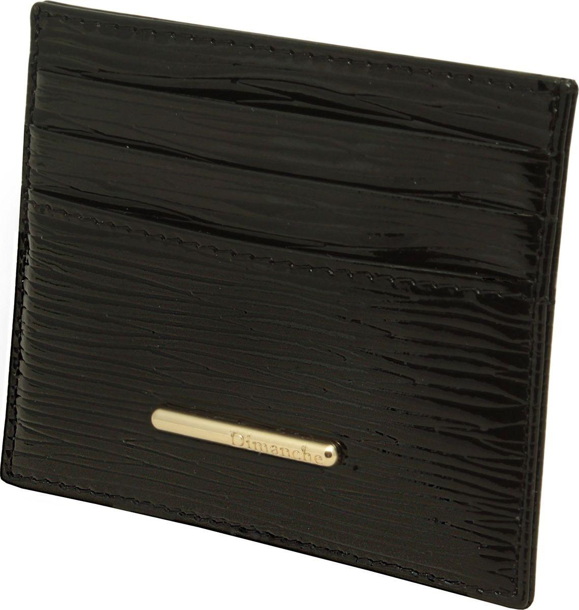 Визитница женская Dimanche Nice, цвет: черный. 290290_черныйМиниатюрная визитница Dimanche Nice для хранения визитных или кредитных кар изготовлена из натуральной кожи. С каждой стороны имеется по 3 кармашка и посередине потайной карман.