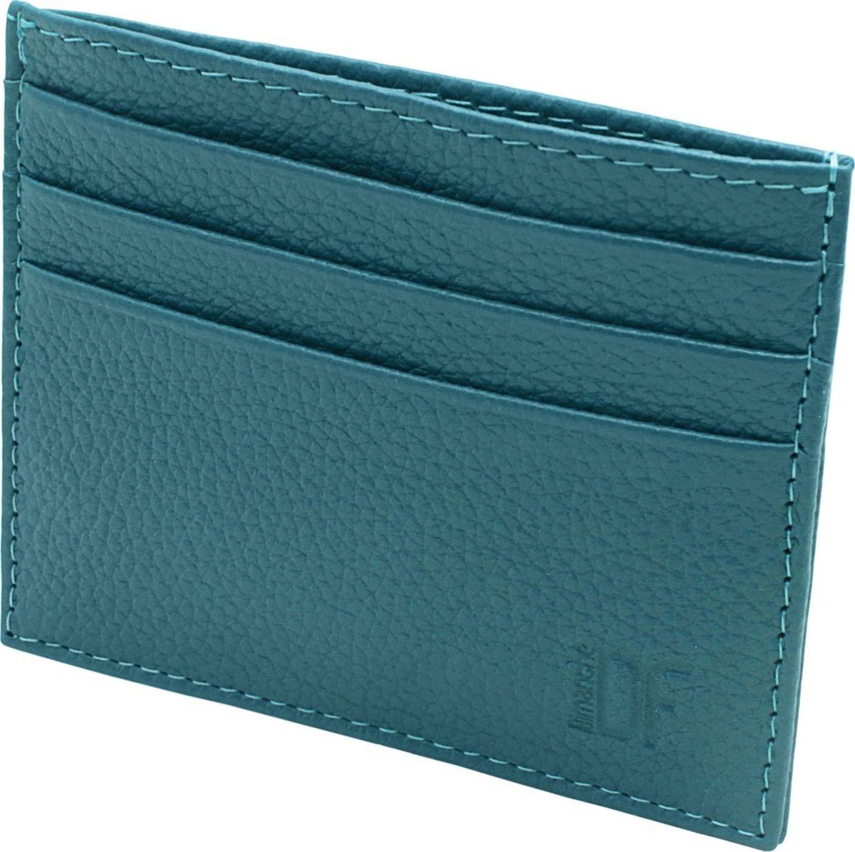 Футляр для визиток женский Dimanche, цвет: темная лазурь. 256/28256/28_темная лазурьМиниатюрный футляр для хранения визитных или кредитных кар. С каждой стороны имеется по 3 кармашка и посередине потайной карман.