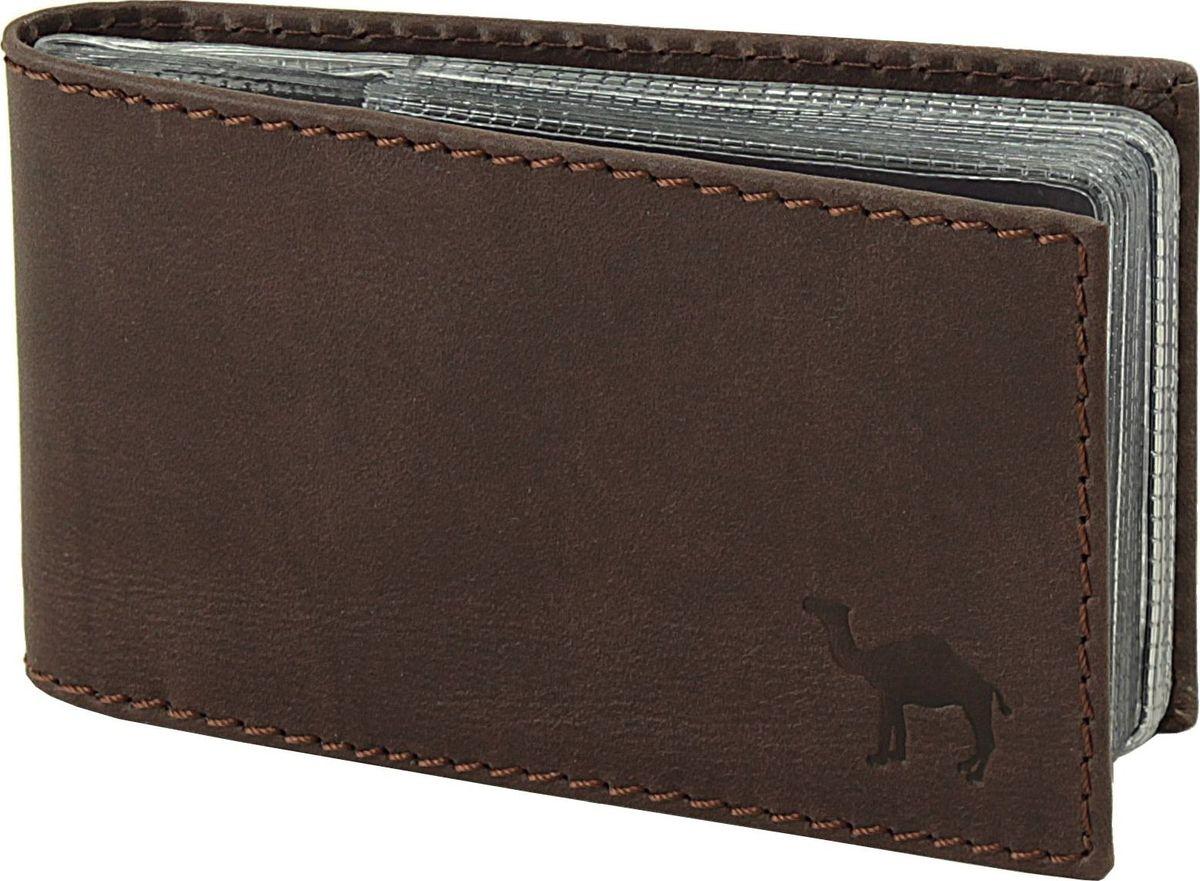 Футляр для визиток мужской Dimanche Camel, цвет: коричневый. 632/К632/К_коричневыйФутляр для визиток/кредиток с пластиковым блоком.