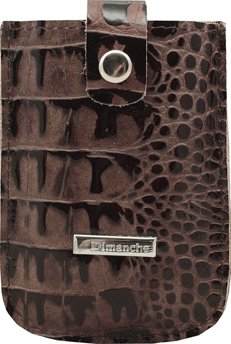 Футляр для дисконтных карт женский Dimanche Loricata Brun, цвет: коричневый. 283/46283/46_коричневыйУдобный компактный футляр для самых необходимых дисконтных или банковских карт. Движущийся хлястик позволяет быстро достать карточки.