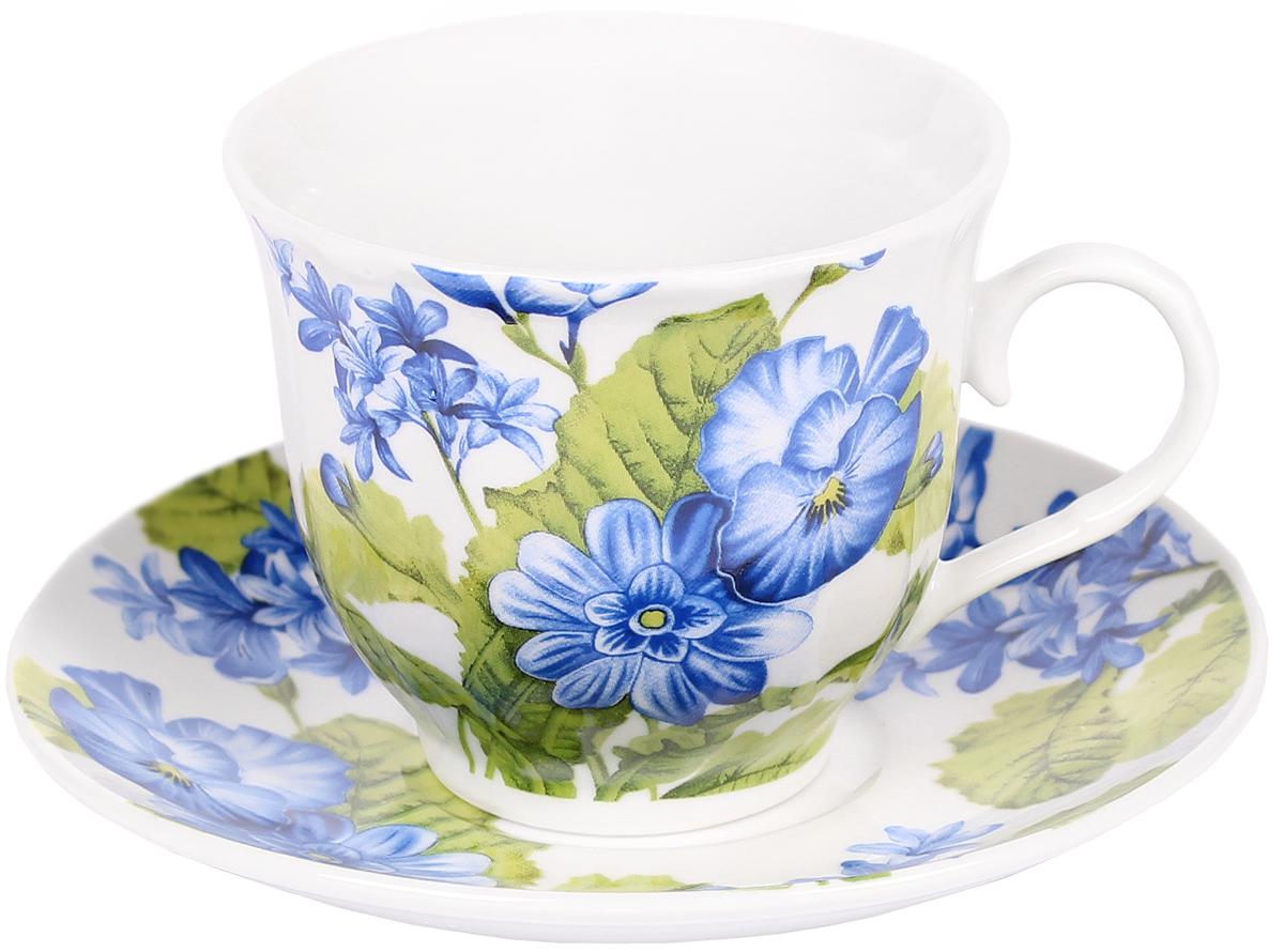 Чайная пара Bella, 2 предмета. DL-F1GB-044DL-F1GB-044Чайная пара Bella состоит из чашки и блюдца, изготовленных из высококачественного фарфора. Оригинальный яркий дизайн, несомненно, придется вам по вкусу. Чайная пара Bella украсит ваш кухонный стол, а также станет замечательным подарком к любому празднику. Объем чашки: 220 мл.