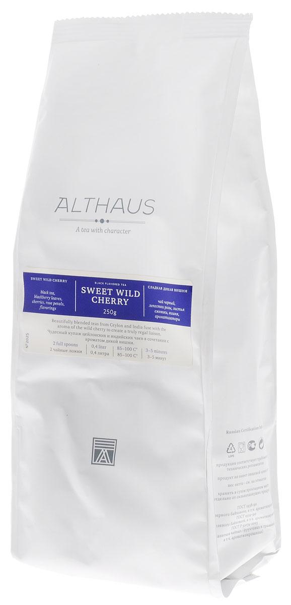 Althaus Sweet Wild Cherry черный листовой чай, 250 гTALTHL-L00093Althaus Сладкая Дикая Вишня — превосходный купаж отборных сортов индийского и цейлонского черного чая с чарующим ароматом дикой вишни. Ягоды вишни от природы наделены неповторимым вкусом и пьяняще-сладким запахом, поэтому они идеально подходят для ароматизации чая. Сочетание кусочков спелой вишни с душистыми листьями ежевики и лепестками пурпурной розы составляет замечательный букет этого чая. Выразительный сладкий аромат сочных вишневых ягод доминирует в этой необычной композиции, уравновешивая крепость самого чая. Глубокий, блюзовый запах розы смягчает яркий вкус и завершает букет легкой цветочной нотой. Ощущение чистоты и свежести создают зеленые листья лесной ежевики. Ягоды вишни содержат витамины и органические кислоты, поэтому вишневый чай прекрасно тонизирует и укрепляет организм. Оптимальная температура заваривания Сладкой Дикой Вишни 95°С. Температура воды: 85-100 °С Время заваривания: 3-5 мин Цвет в чашке: золотисто-красный