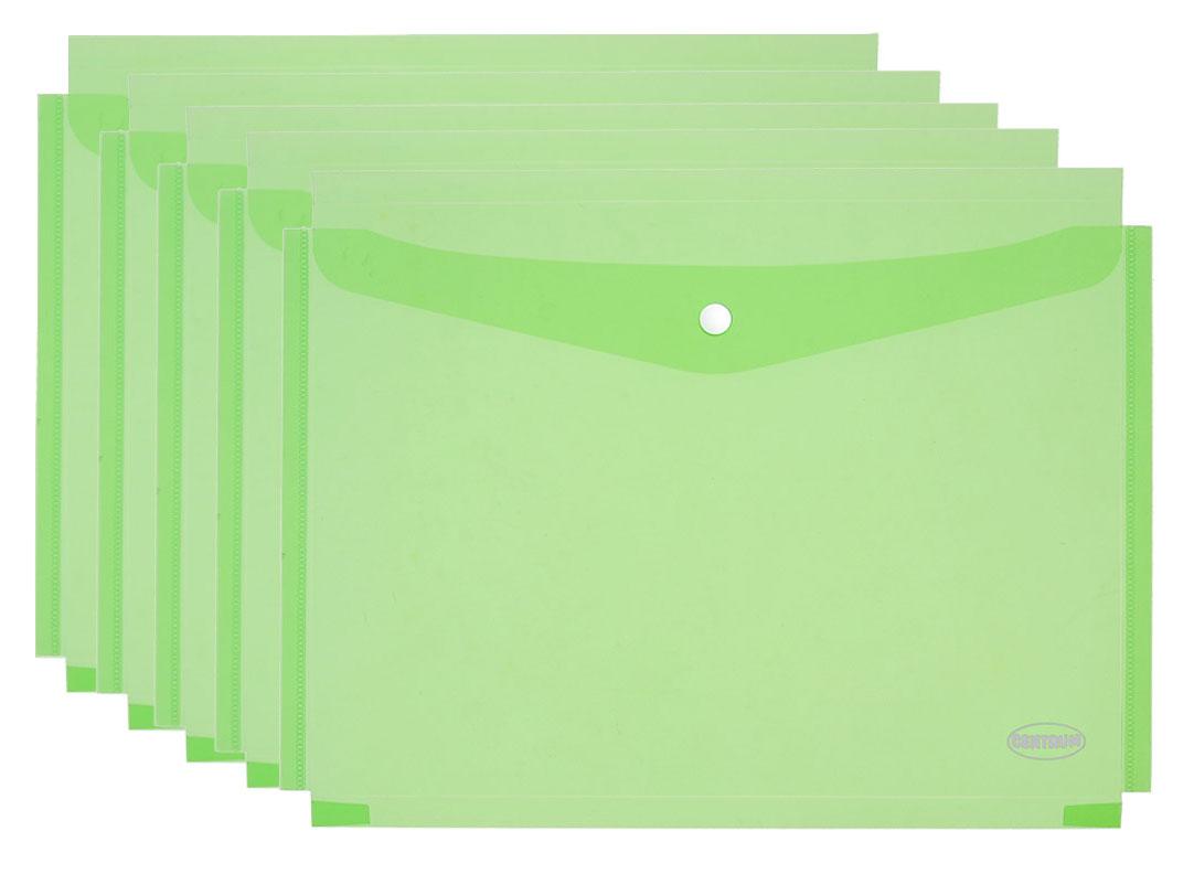 Centrum Папка-конверт на кнопке формат А4 цвет зеленый 5 штук80047_зеленыйПапка-конверт Centrum - это удобный и практичный офисный инструмент, предназначенный для хранения и транспортировки рабочих бумаг и документов формата А4. Папка изготовлена из полупрозрачного глянцевого пластика. В комплект входят 5 папок формата А4. Папка-конверт - это незаменимый атрибут для студента, школьника, офисного работника. Такая папка надежно сохранит ваши документы и сбережет их от повреждений, пыли и влаги.