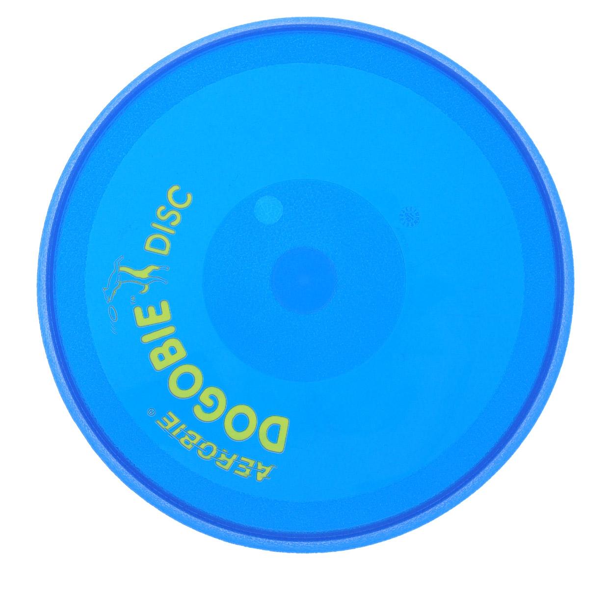 Диск летающий Aerobie Dogobie, цвет: синий, желтый261Летающий диск Aerobie Dogobie специально разработан для ваших четвероногих любимцев. Теперь вы можете не волноваться за их зубы и десны. Материал, из которого созданы этот диск, легок, эластичен, но удивительно прочен. Его очень сложно прокусить или порвать. Кроме того, специалисты компании сумели сохранить летные качества присущие всем дискам данной фирмы. Его концы в форме спойлера позволят бросить диск на большую дистанцию и ребенку, и взрослому. Диск станет прекрасным дополнением к вашим прогулкам в парке или на пляже. Яркий цвет не даст диску утонуть и не потеряется, а игра с диском доставит вам и вашему питомцу просто море удовольствия. Диаметр диска: 20,5 см. Высота диска: 1,5 см.