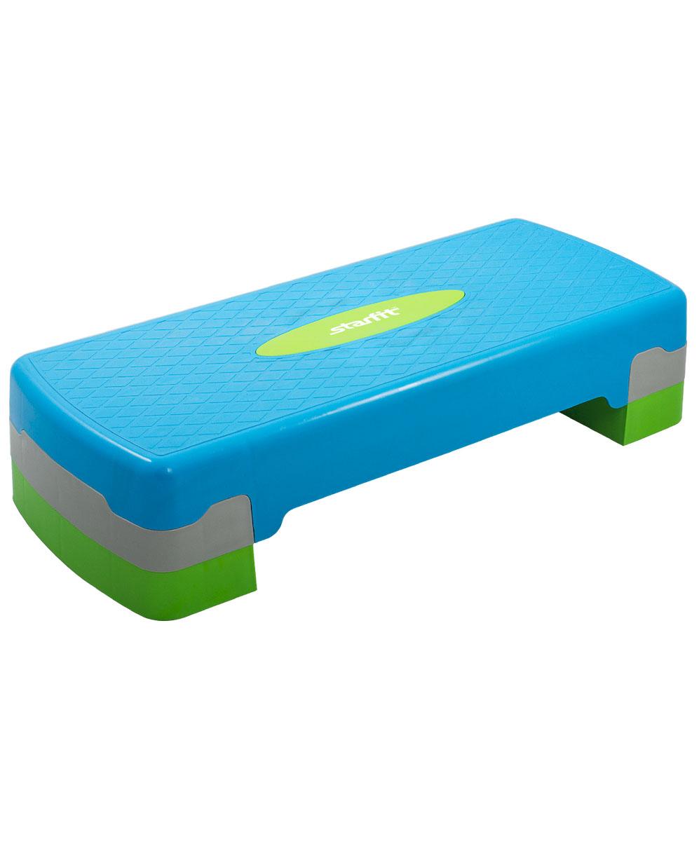Степ-платформа Starfit SP-101, 2-уровневая, 67,5 х 28,5 х 15 смУТ-00007257Степ-платформа SP-101 предназначена для занятий аэробикой в фитнес-клубах, спортивных залах и для домашнего использования. С помощью тренажера можно оптимизировать нагрузку на мышцы ног и ягодиц, сделать мышцы тела подтянутыми и стройными. За счет высокоинтенсивной тренировки на степе, можно наладить работу сердечно-сосудистой системы. Степ-платформа один из самых популярных аксессуаров в фитнесе. Тренажер используют в функциональном тренинге, бодибилдинге, групповых программах. Количество уровней: 2. Высота платформы с уровнями: 15 см. Высота первого уровня: 10 см.