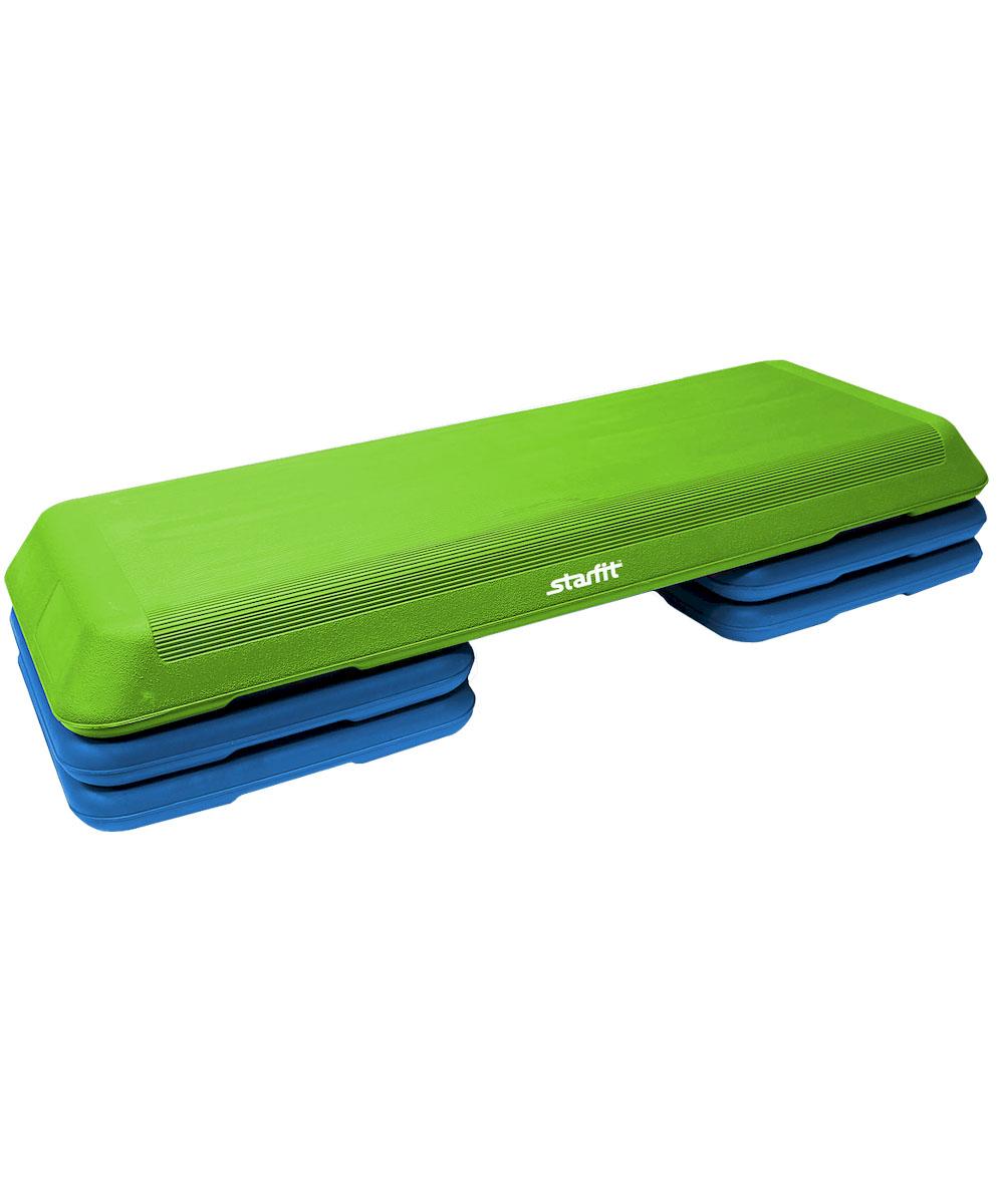Степ-платформа Starfit SP-201, 3-уровневая, 110 х 41 х 20 смУТ-00007258Степ-платформа SP-201 предназначена для занятий аэробикой в фитнес-клубах, спортивных залах и для домашнего использования. С помощью тренажера можно оптимизировать нагрузку на мышцы ног и ягодиц, сделать мышцы тела подтянутыми и стройными. За счет высокоинтенсивной тренировки на степе, можно наладить работу сердечно-сосудистой системы. Степ-платформа один из самых популярных аксессуаров в фитнесе. Тренажер используют в функциональном тренинге, бодибилдинге, групповых программах. Количество уровней: 3. Высота платформы с уровнями: 10+5/10 см.