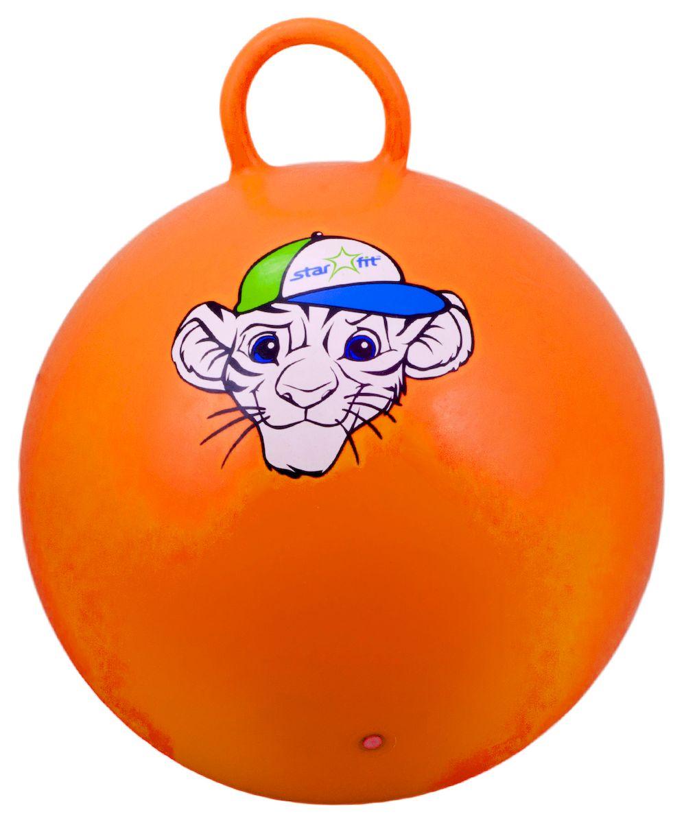 Мяч-попрыгун Starfit Тигренок, с ручкой, цвет: оранжевый, белый, синий, 55 смУТ-00007262Мяч-попрыгун Star Fit Тигренок предназначен для гимнастических и медицинских целей в лечебных упражнениях. Оснащен ручкой. Мяч прекрасно подходит для использования в домашних условиях. Данный мяч можно использовать для: реабилитации после травм и операций, стимуляции и релаксации мышечных тканей, улучшения кровообращения, лечении и профилактики сколиоза, при заболеваниях или повреждениях опорно-двигательного аппарата. Максимальный вес пользователя: 200 кг.