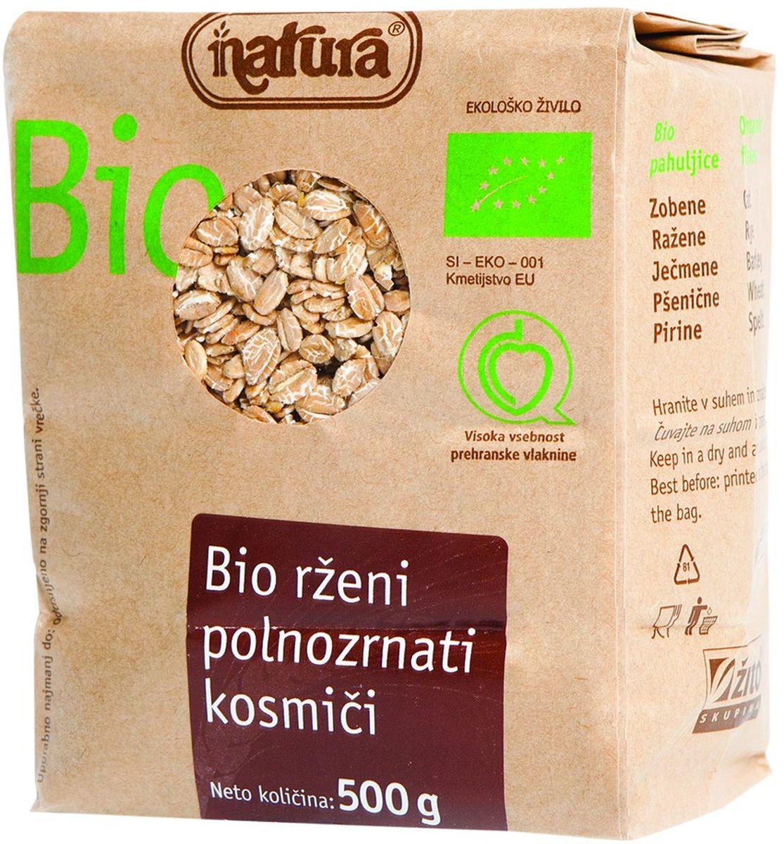 Рожь – это злак родом из северной Европы. Он хорошо адаптируется и к регионам, менее подходящим для выращивания пшеницы. Мы предлагаем вам все полезные свойства ржаных зерен в форме биологически произведенных ржаных хлопьев. Органические продукты Natura имеют маркировку в соответствии с законодательством и европейскую экологическую маркировку сертифицированных органических продуктов питания, так как при их производстве не используются удобрения и распылители, запрещенные в органическом производстве и обработке. Органические продукты произведены под контролем SI – EKO – 001. Органические продукты Natura производятся в регионах, где природа пока еще живет своей жизнью. Они попадают на полки магазинов и на столы людей, выбирающих здоровое питание, в той же форме, в которой их создала природа: натуральными, питательными и здоровыми. Разнообразные натуральные зерна и семена обладают всеми свойствами злаков, полностью сохраняя, таким образом, свои полезные качества.