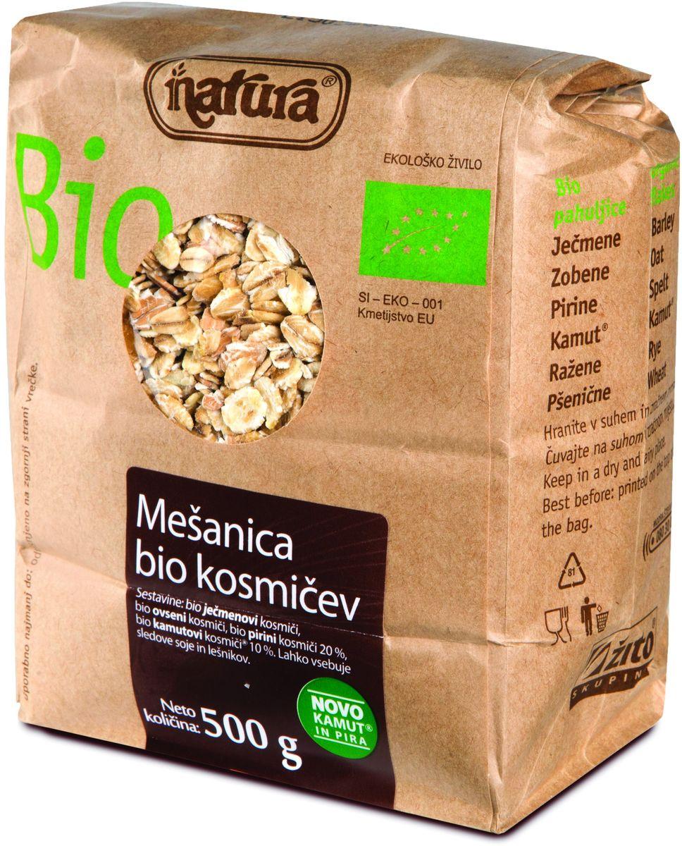Мы приготовили смесь самых вкусных био-хлопьев для тех, кому нравится смешивать хлопья по своему вкусу, и для тех, кто хочет попробовать что-то новое и внести разнообразие в свой завтрак. Эта смесь включает в себя органические хлопья ячменя, овса, спельты и камута. Органические продукты Natura имеют маркировку в соответствии с законодательством и европейскую экологическую маркировку сертифицированных органических продуктов питания, так как при их производстве не используются удобрения и распылители, запрещенные в органическом производстве и обработке. Органические продукты произведены под контролем SI – EKO – 001. Органические продукты Natura производятся в регионах, где природа пока еще живет своей жизнью. Они попадают на полки магазинов и на столы людей, выбирающих здоровое питание, в той же форме, в которой их создала природа: натуральными, питательными и здоровыми. Разнообразные натуральные зерна и семена обладают всеми свойствами злаков, полностью сохраняя,...