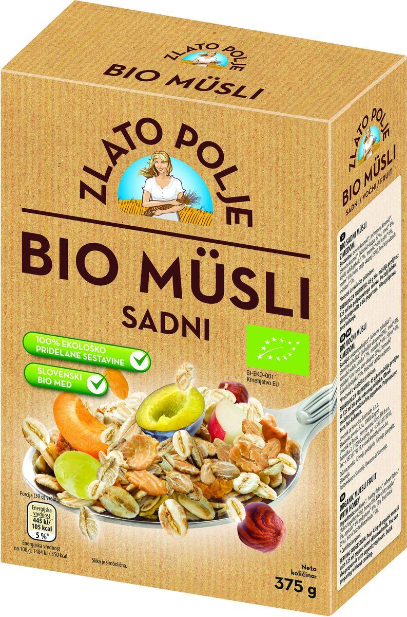 Zito Natura Bio Мюсли с фруктами, медом и фундуком органические, 375 г3400401Органические мюсли с фруктами от Zito Natura Bio – это смесь овсяных, перловых и пшеничных хлопьев, содержащая не менее 25% сухофруктов и обжаренных лесных орехов со словенским медом, произведенным в соответствии с процедурами, применяемыми в экологическом пищевом производстве. Органические продукты Zito Natura имеют маркировку в соответствии с законодательством и европейскую экологическую маркировку сертифицированных органических продуктов питания, так как при их производстве не используются удобрения и распылители, запрещенные в органическом производстве и обработке. Органические продукты произведены под контролем SI – EKO – 001.