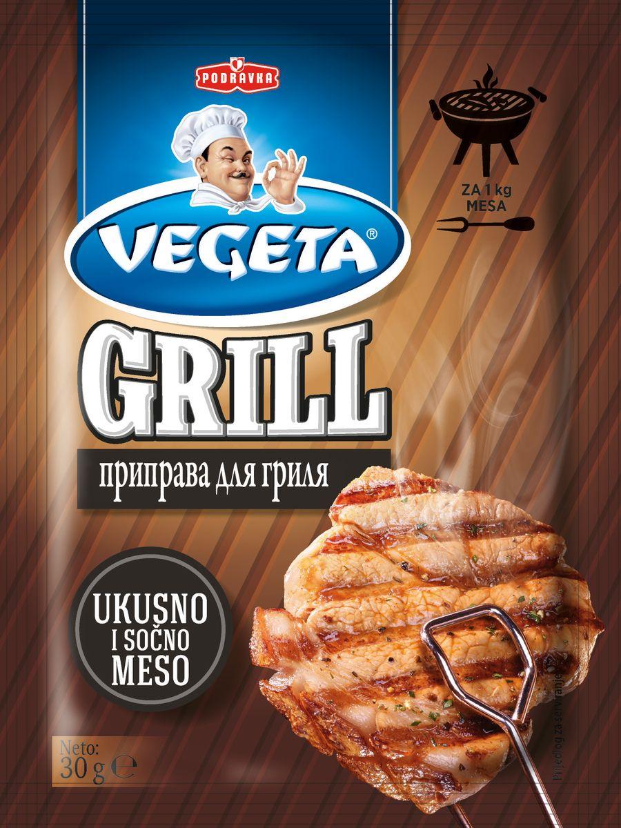 Vegeta Grill приправа для гриля, 30 г3110165Секрет самого совершенного блюда, приготовленного на гриле, очень прост - он спрятан в этом пакетике! Любому блюду - и курице, и баклажанам, и сочному жареному мясу, и кабачкам, и люля-кебаб, и грибам - придаст полноту знакомого вкуса эта совершенная комбинация специй. Познакомившись с философией гриля, попробуйте воспользоваться ею и сами, станьте доктором этой науки благодаря собственным вкусным открытиям. Для самых вкусных блюд с гриля Замаринует практично и быстро Останется больше времени для общения и отдыха