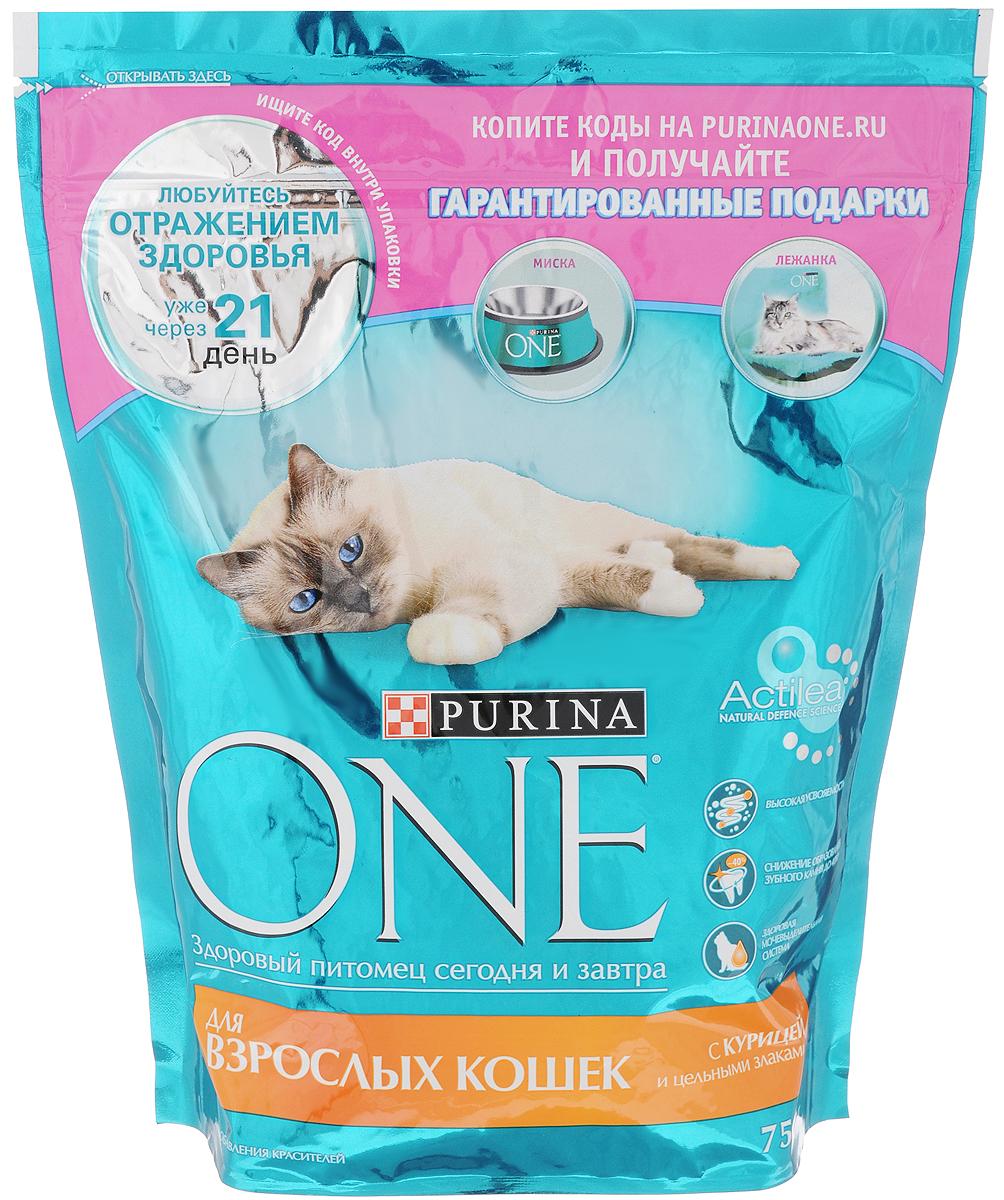 """Корм сухой """"Purina One"""" для взрослых кошек, с курицей и цельными злаками, 750 г 12266732"""