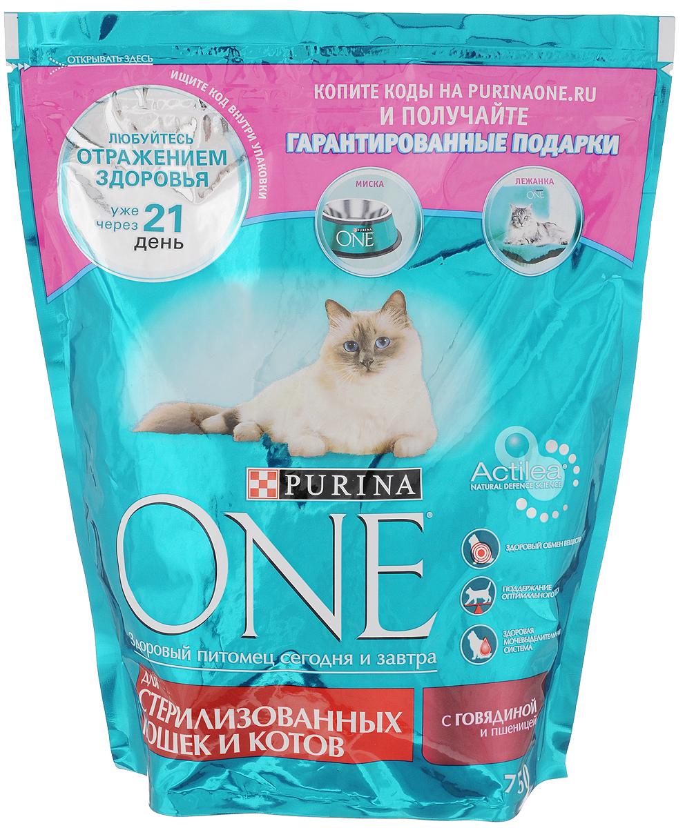 Корм сухой Purina One для кастрированных котов и стерилизованных кошек, с говядиной и пшеницей, 750 г12266728Состав корма Purina One был специально подобран ветеринарами таким образом, чтобы поддерживать здоровый обмен веществ у кошек и котов, прошедших процедуру стерилизации или кастрации. Дело в том, что им требуется меньше калорий для поддержания нормальной жизнедеятельности и активности, чем собратьям с сохраненной половой функцией. Сухой корм Purina One обеспечивает: - здоровый вес благодаря более высокому содержанию белка по отношению к содержанию жира, - здоровый обмен веществ после кастрации и стерилизации, - здоровую мочевыделительную систему, благодаря балансу минеральных веществ, - снижение образование зубного камня до 40%, - легкую усвояемость питательных веществ, благодаря высококачественным ингредиентам. Товар сертифицирован.