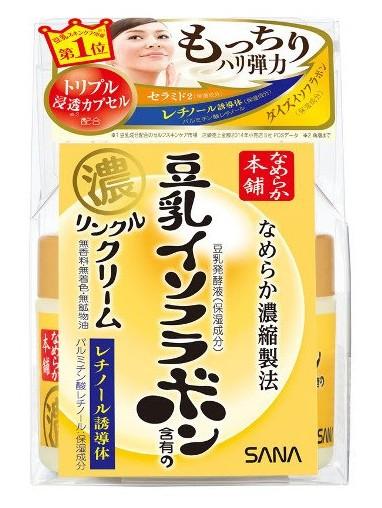 Sana Увлажняющий и подтягивающий крем Wrinkle Cream, с ретинолом и изофлавонами сои 50 г