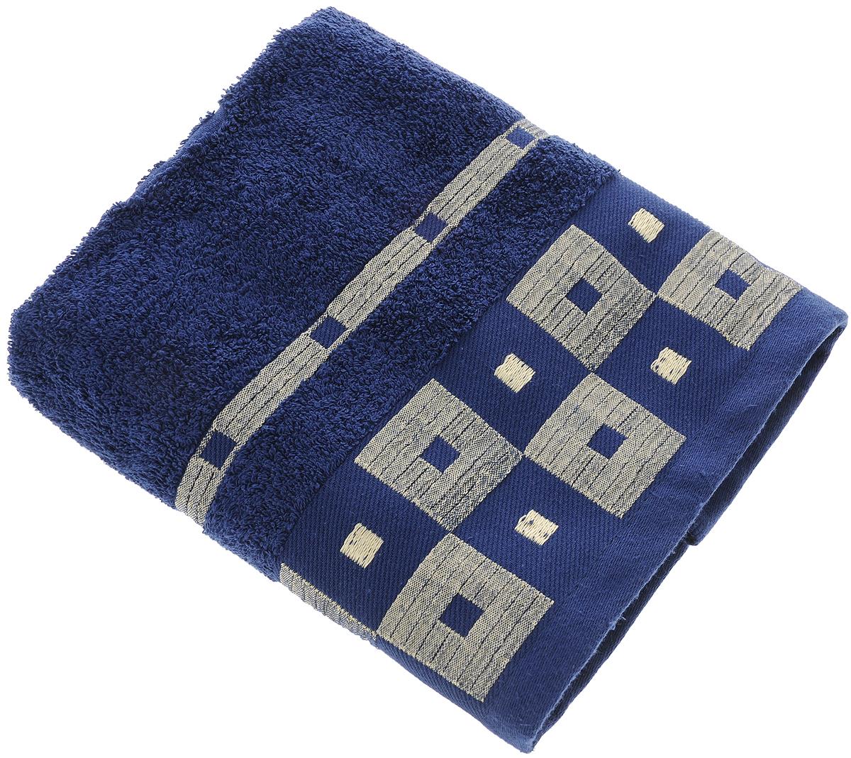 Полотенце Aisha Home Textile, цвет: синий, 50 х 90 см. УзТ-ПМ-112-08-19кУзТ-ПМ-112-09-19кМахровые полотенца AISHA Home Textile идеальное сочетание цены и качества. Полотенца упакованы в стильную подарочную коробку. В состав входит только натуральное волокно - хлопок. Лаконичные бордюры подойдут для любого интерьера ванной комнаты. Полотенца прекрасно впитывает влагу и быстро сохнут. При соблюдении рекомендаций по уходу не линяют и не теряют форму даже после многократных стирок. Состав: 100% хлопок.