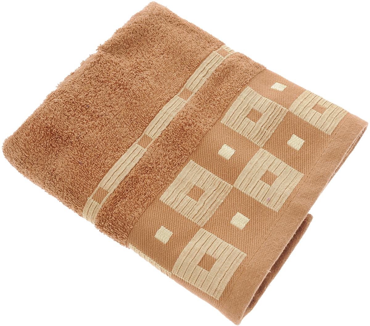 Полотенце Aisha Home Textile, цвет: коричневый, 50 х 90 смУзТ-ПМ-112-09-20кМахровые полотенца AISHA Home Textile идеальное сочетание цены и качества. Полотенца упакованы в стильную подарочную коробку. В состав входит только натуральное волокно - хлопок. Лаконичные бордюры подойдут для любого интерьера ванной комнаты. Полотенца прекрасно впитывает влагу и быстро сохнут. При соблюдении рекомендаций по уходу не линяют и не теряют форму даже после многократных стирок. Состав: 100% хлопок.