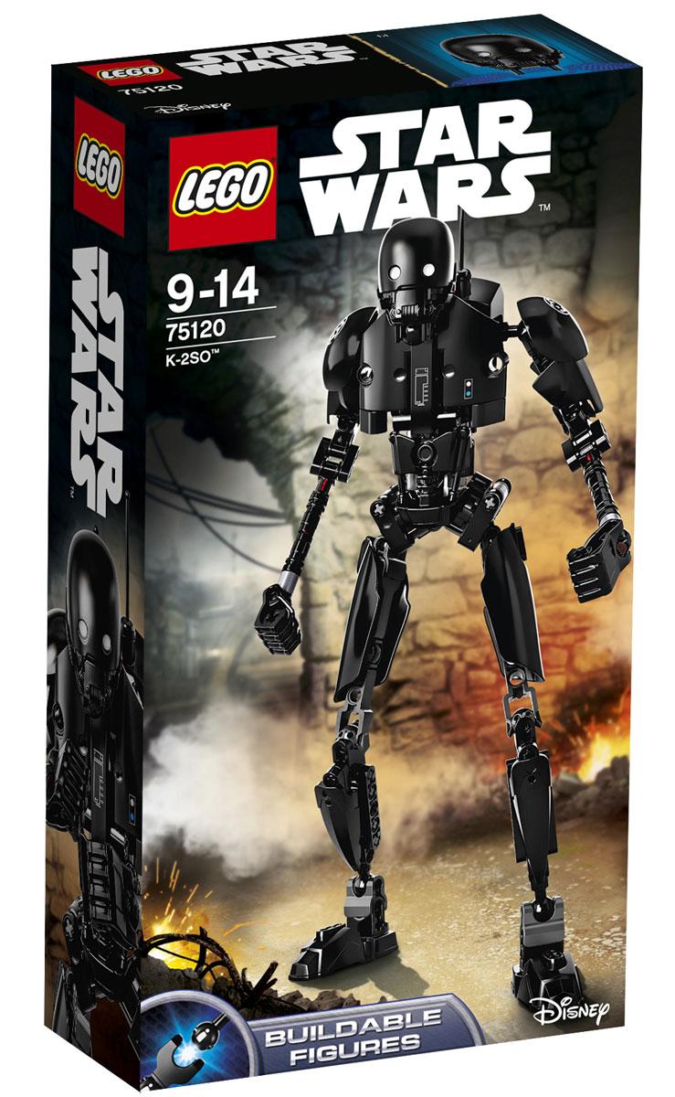 LEGO Star Wars Конструктор K-2SO 7512075120K-2SO, который когда-то был дроидом имперской службы безопасности, сейчас готов воевать на стороне Союза Повстанцев. Постройте дроида, поверните рычажок вбок, чтобы дроид мог вращать руками попеременно, или переместите рычажок вперед, чтобы он вращал сразу обеими руками! У мощного дроида K-2SO достаточно сил и знаний для свержения Империи! Набор включает в себя 169 пластиковых элементов. Этот великолепный экземпляр по праву займет достойное место в любой коллекции любителей киноэпопеи Звездные войны. Конструктор станет замечательным сюрпризом вашему ребенку, который будет способствовать развитию мелкой моторики рук, внимательности, усидчивости и мышления. Играя с конструктором, ребенок научится собирать детали по образцу, проводить время с пользой и удовольствием.